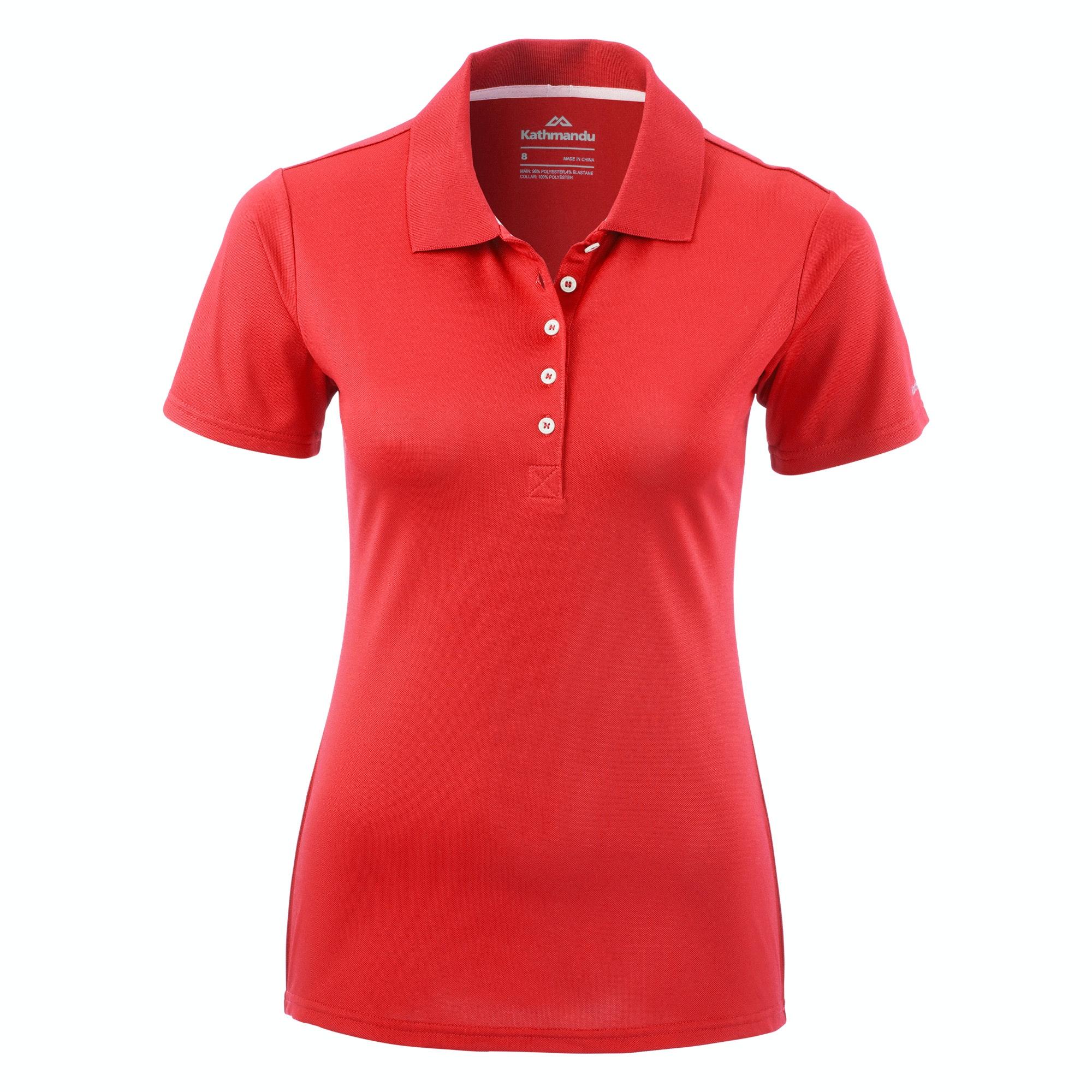 Kathmandu vanua womens classic short sleeve collar polo for Best short sleeve shirts