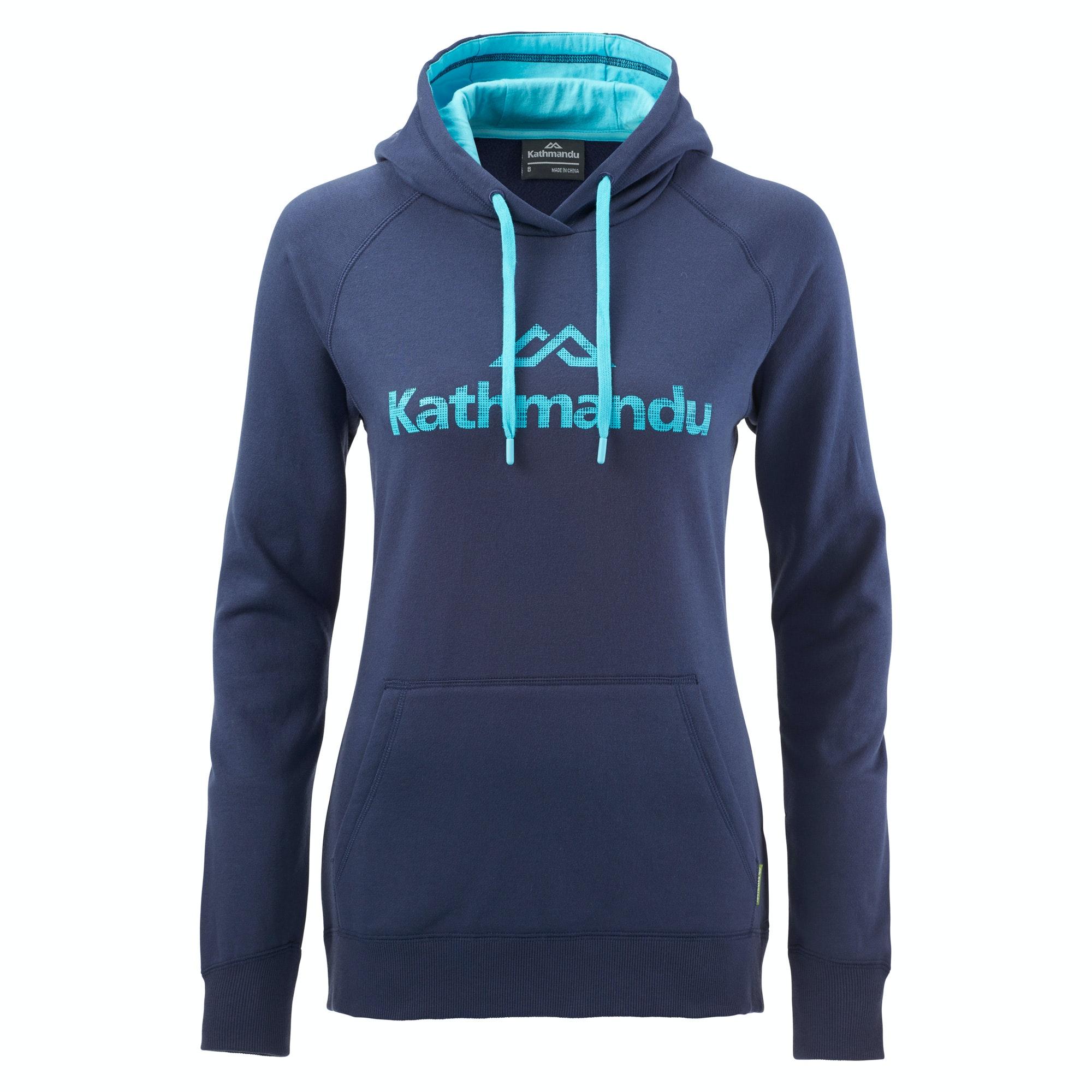 kathmandu women 39 s hooded pullover v2 moonlight pacific blue. Black Bedroom Furniture Sets. Home Design Ideas