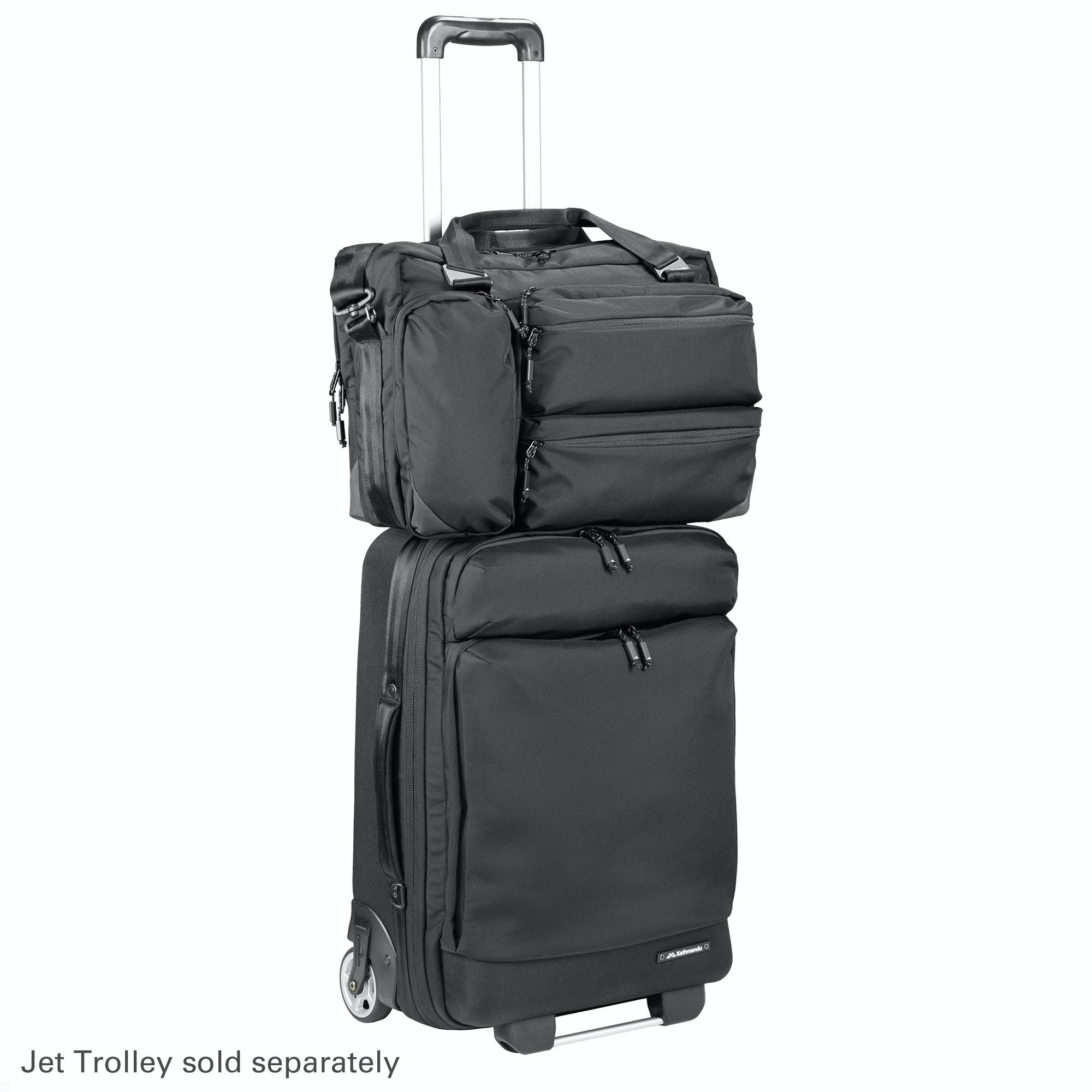 Jet Brief 22L Carry On Luggage Laptop Bag - Black
