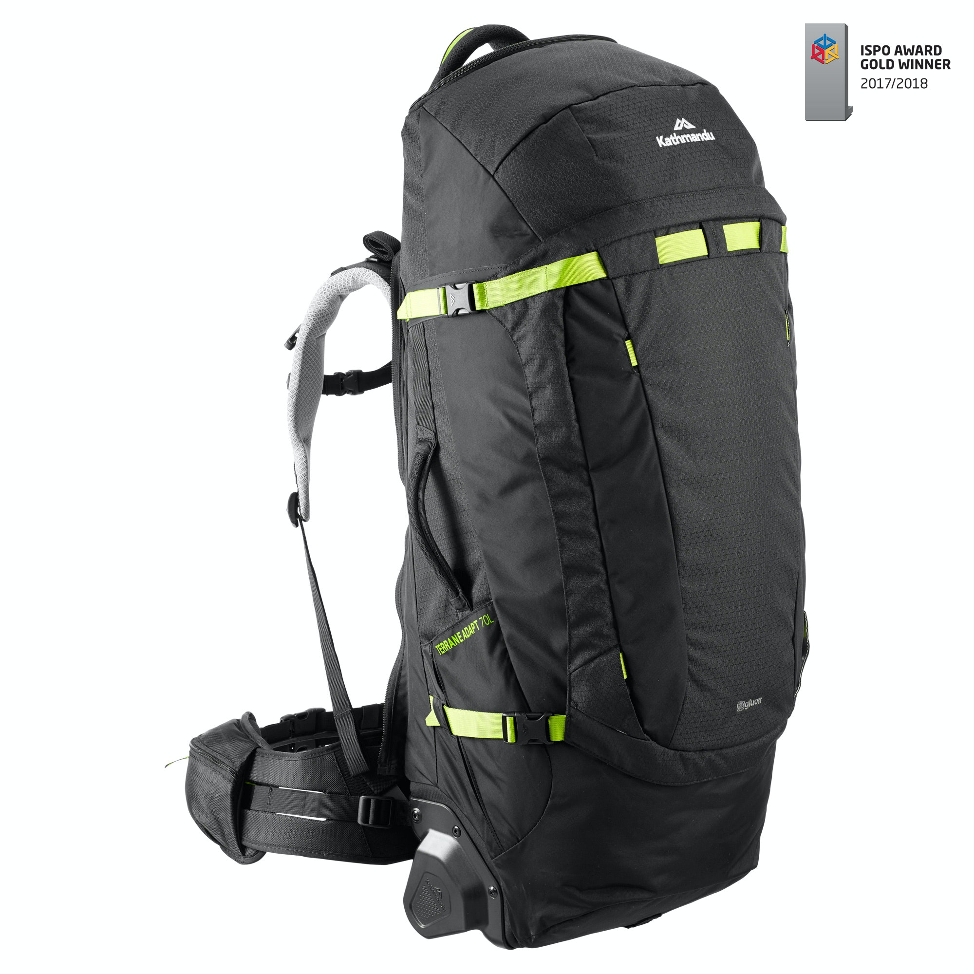 Kathmandu Terrane Adapt 70L Pack Trolley Bag Wheels Hybrid Travel ...