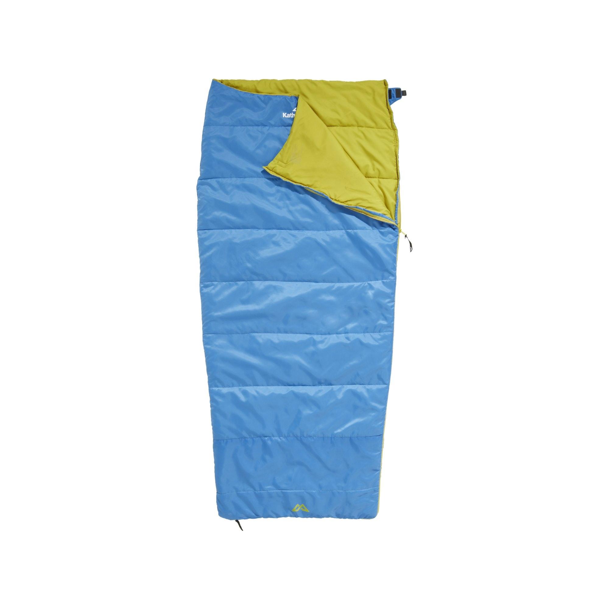 delta lightweight rectangular summer sleeping bag blue
