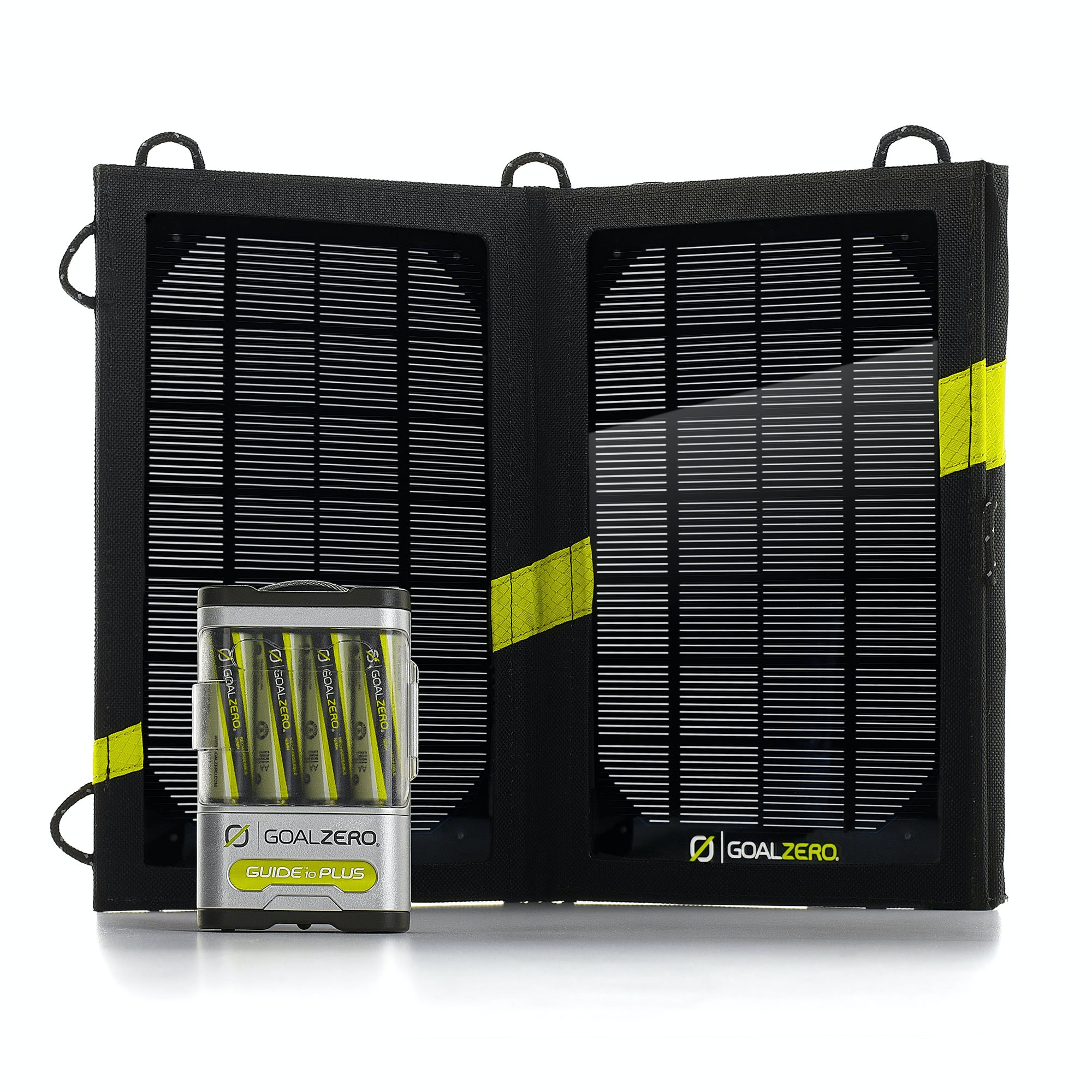 goal zero guide 10 plus solar power battery travel phone recharger kit ebay. Black Bedroom Furniture Sets. Home Design Ideas