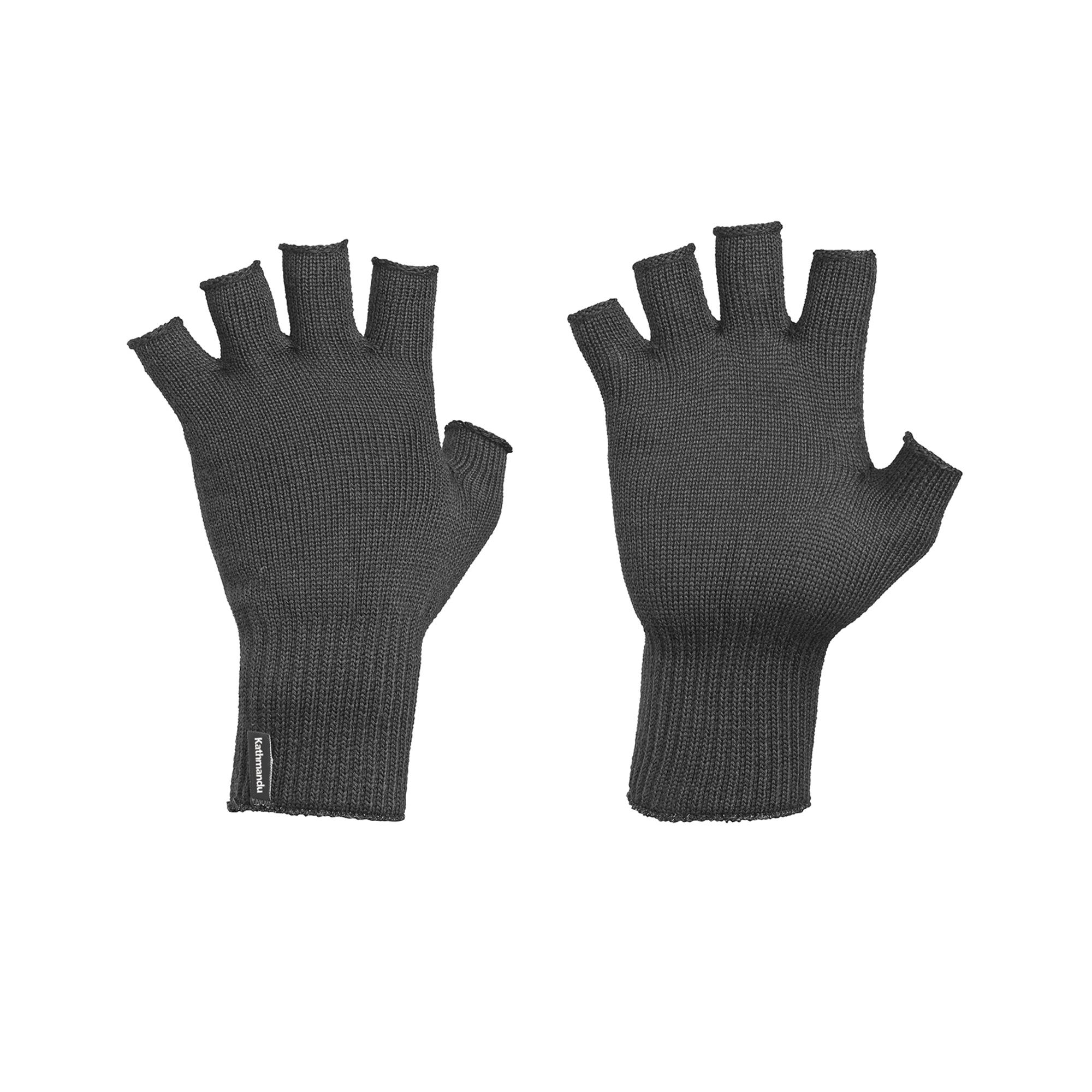 Kathmandu Polypro Thermal Knitted Warm Winter Fingerless Gloves   eBay