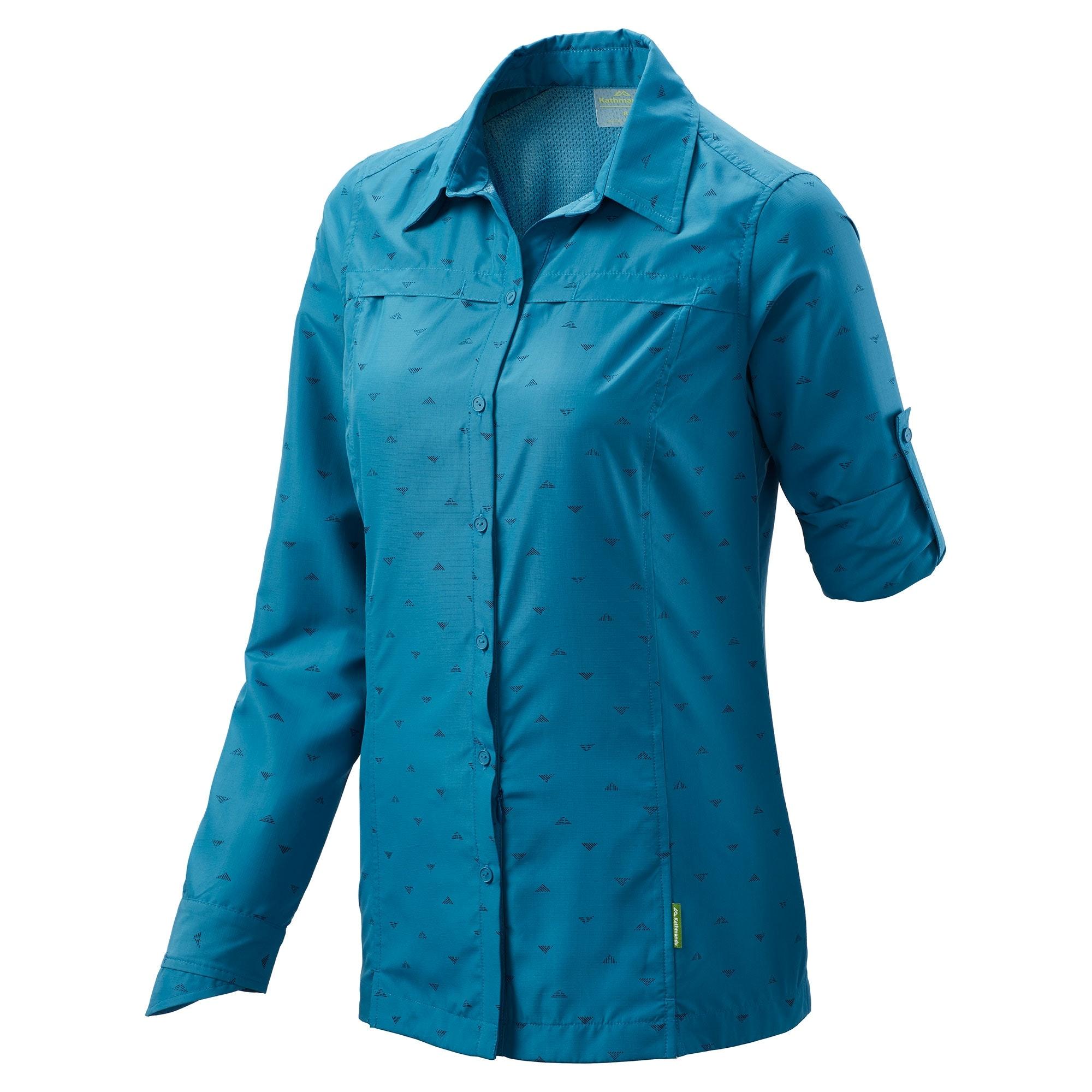Kathmandu-Tapah-Women-039-s-Long-Sleeve-Quick-Drying-Sun-Protection-Hiking-Shirt-v2