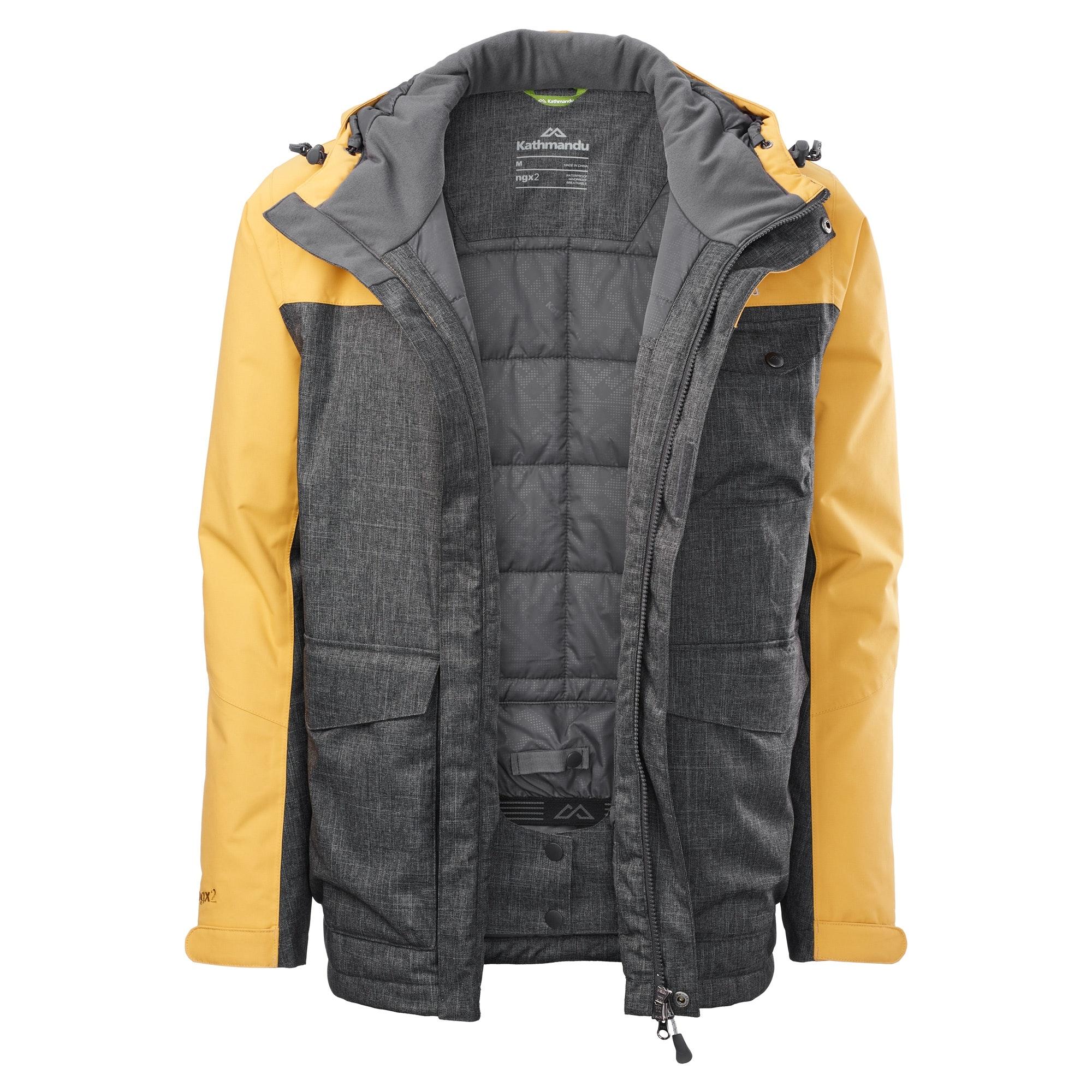Kathmandu-Teton-Men-039-s-2-Layer-Waterproof-Snow-Ski-Hooded-Jacket-v3
