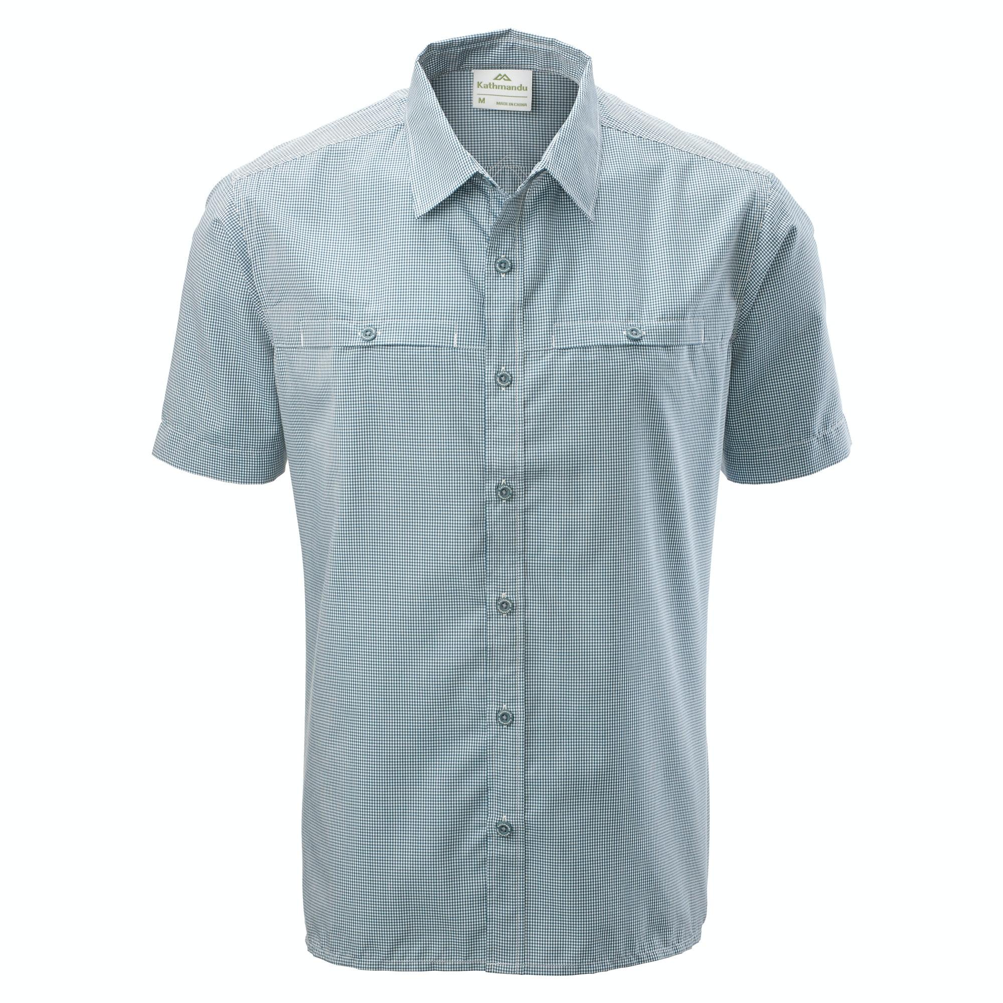 e05b1c285c7 Tipu Men s Short Sleeve Check Shirt - Dark Blue White Check