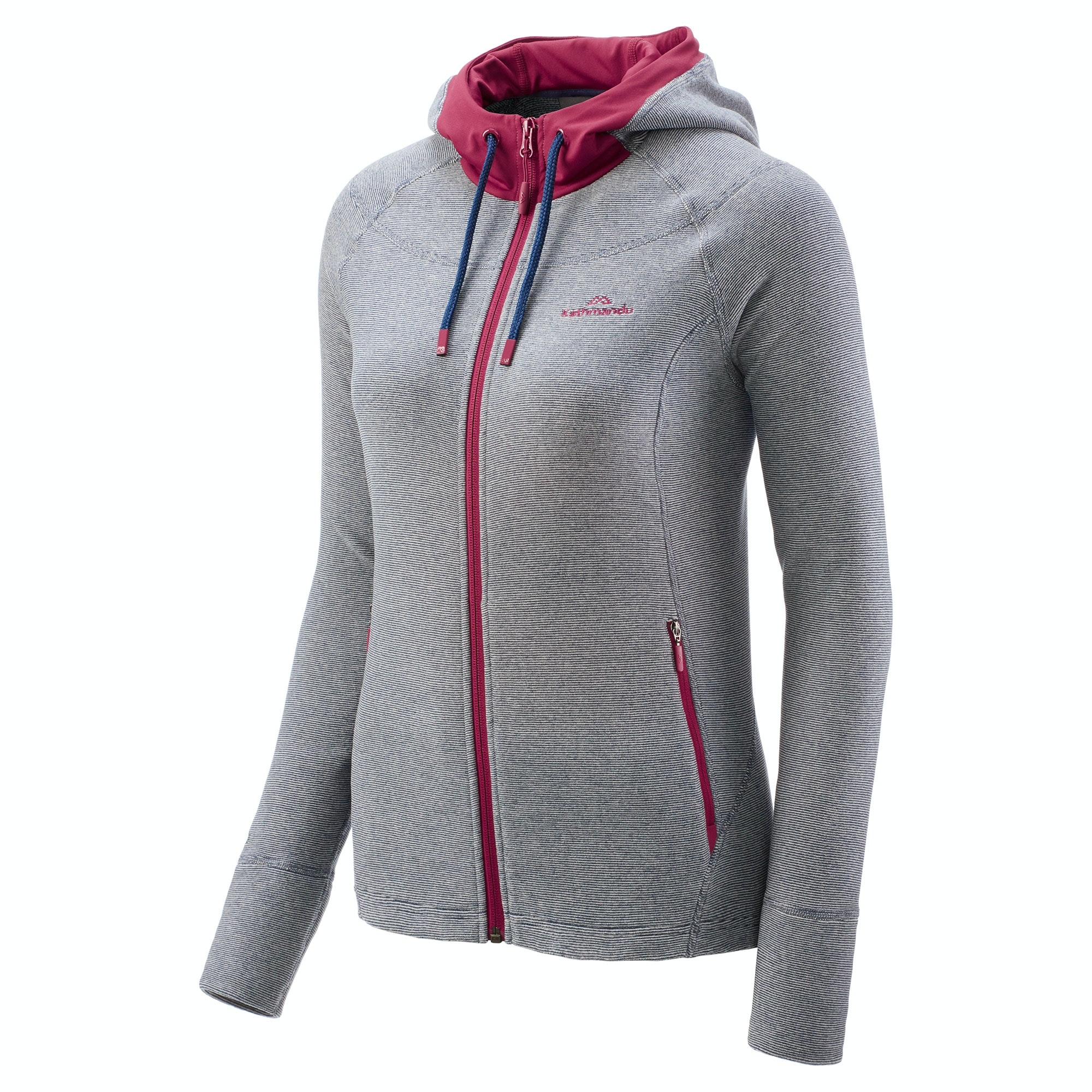 Arenha Women's Hooded Lightweight Fleece Jacket - Magenta