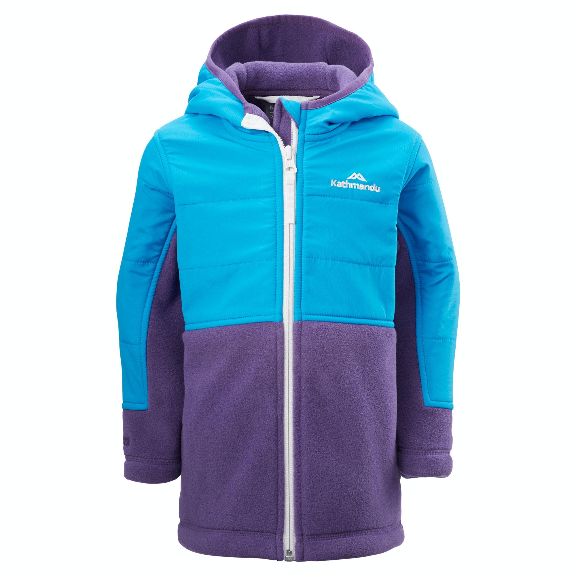Lino Kid's Fleece Hooded Jacket - Violet