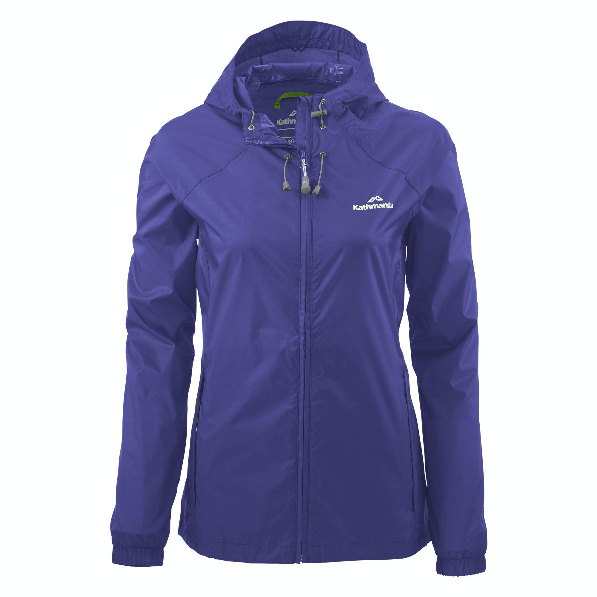 Kathmandu Pocket It Womens Hooded Rain Jacket Light