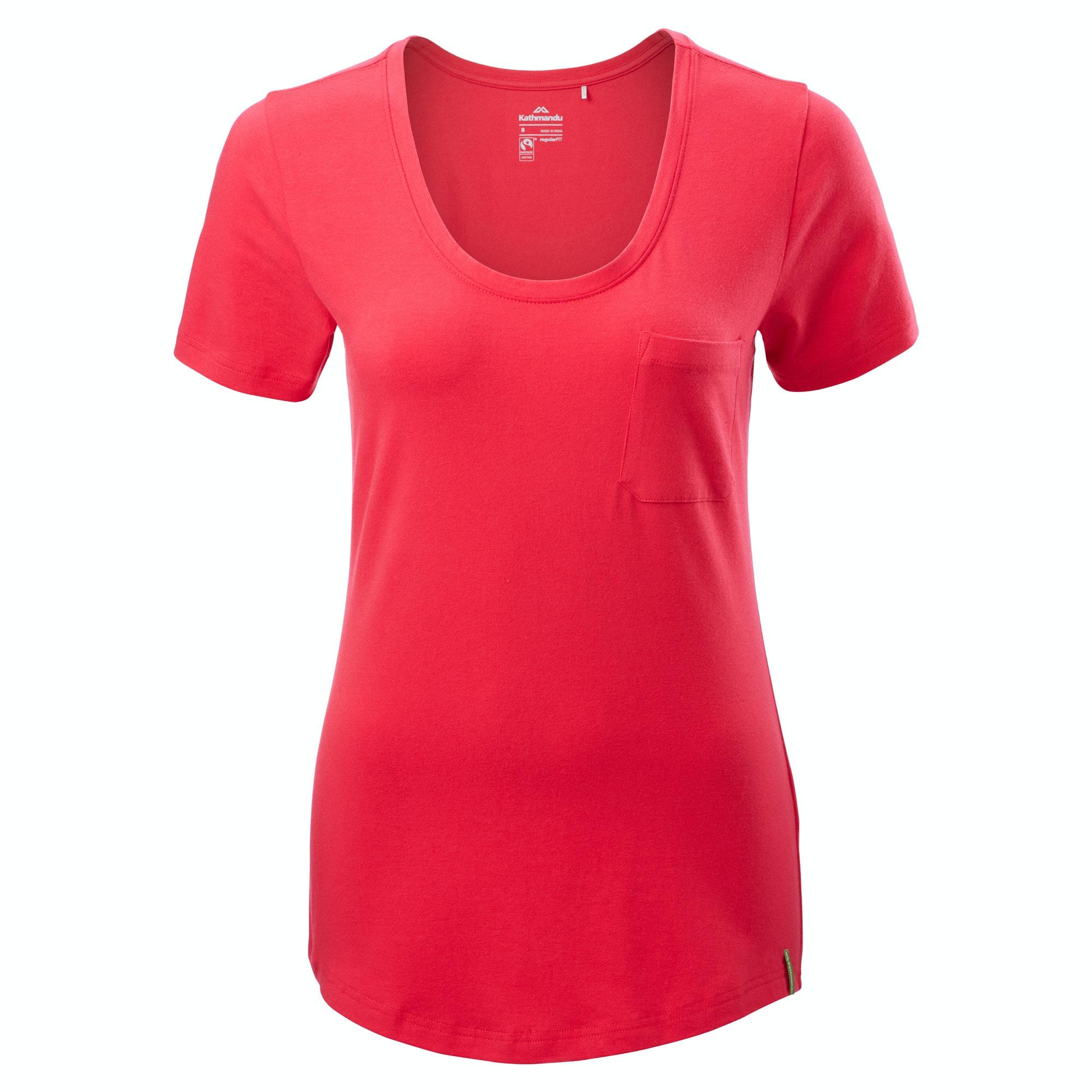 Kathmandu fairtrade womens organic cotton tee short sleeve for Staples custom t shirts