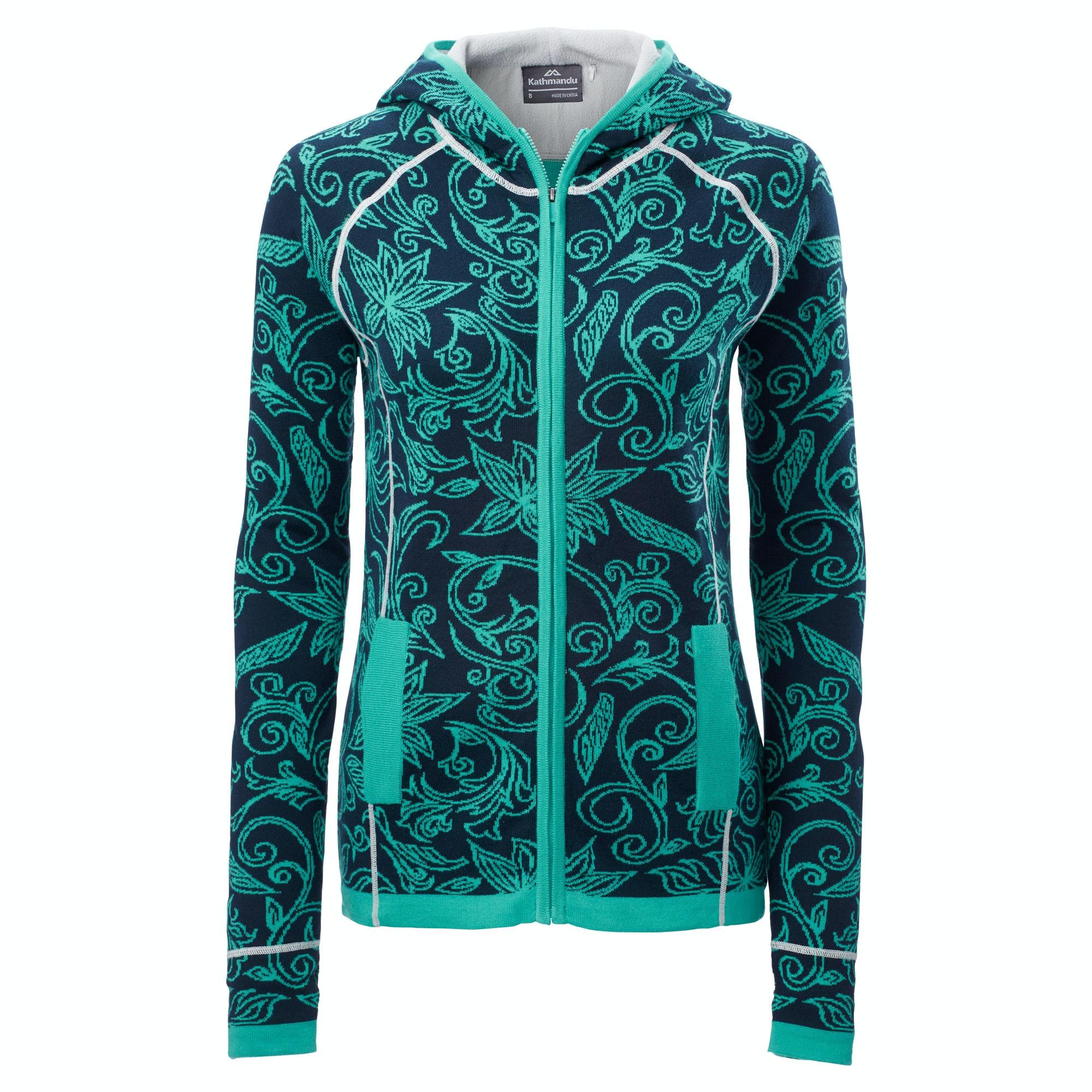 Knitting Pattern Ladies Hooded Jacket : Kathmandu Sanam Womens Organic Cotton Blend Knitted Hooded ...