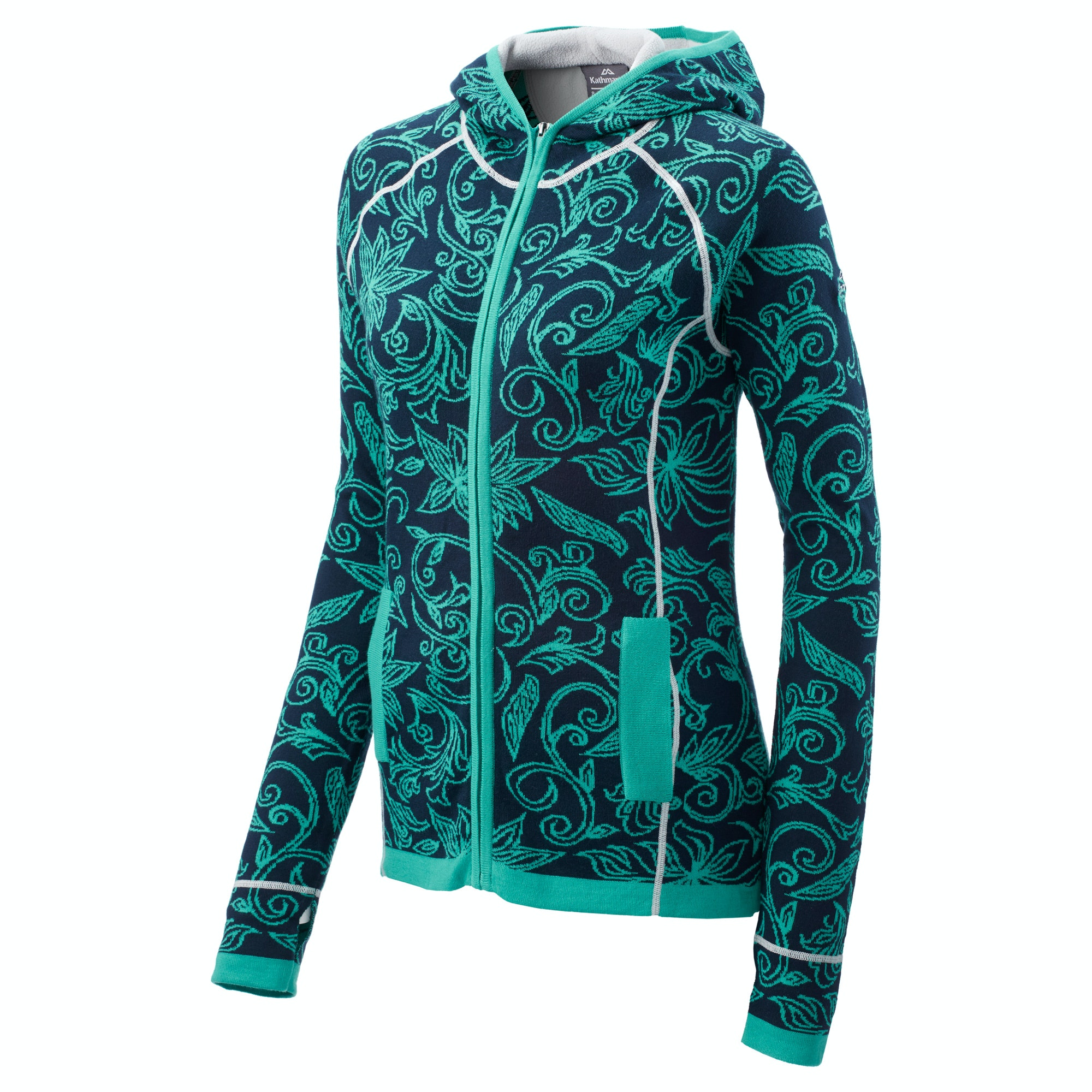Kathmandu Sanam Womens Organic Cotton Blend Knitted Hooded ...