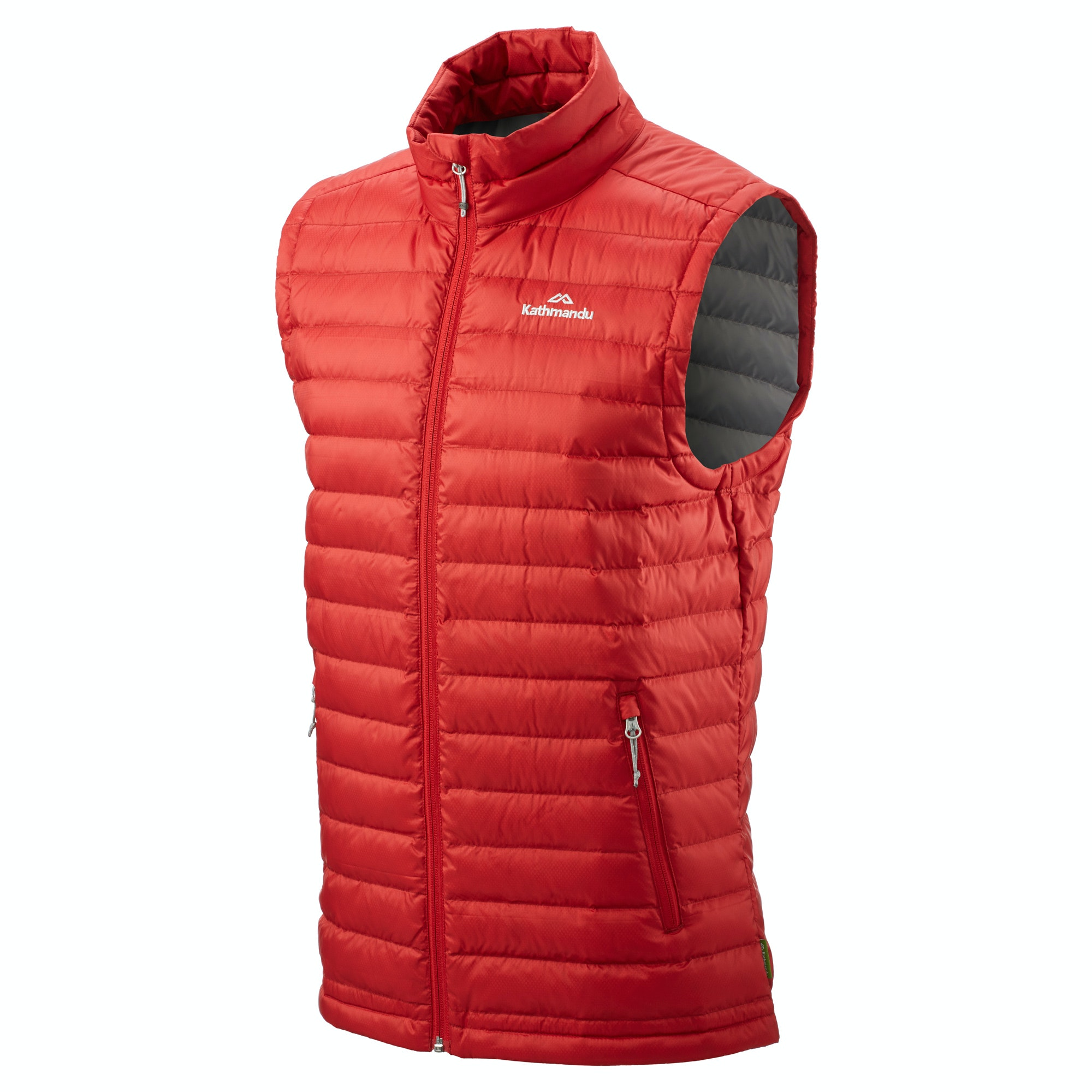 Red puffer vest by Kenneth Cole ketauan.ga and lining are polyester and the filling is 60% down and 40% feathers. Great Gently used condition. KENNETH COLE. shoulder to hem ~ 22