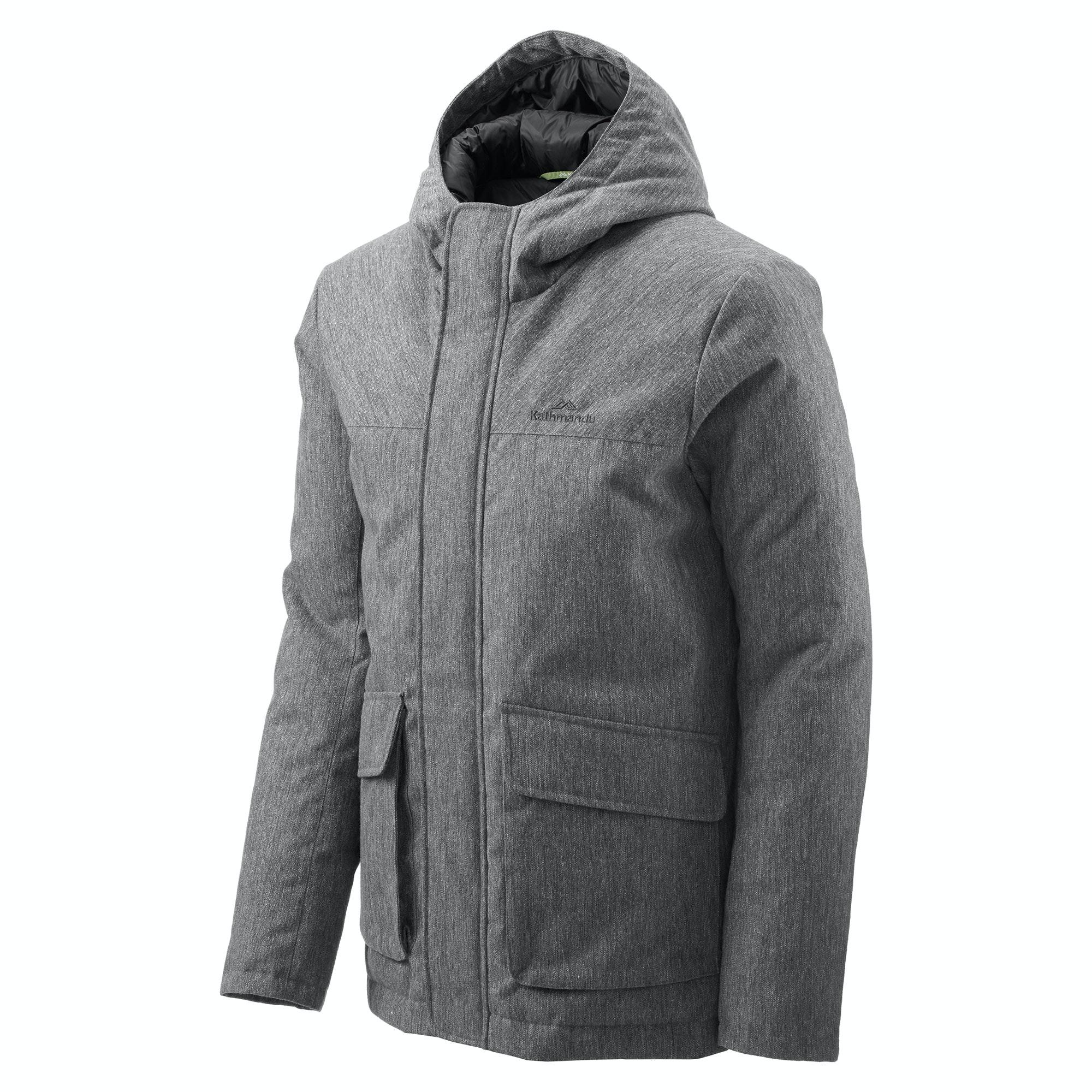 Mens down jacket with hood - New Season Colour