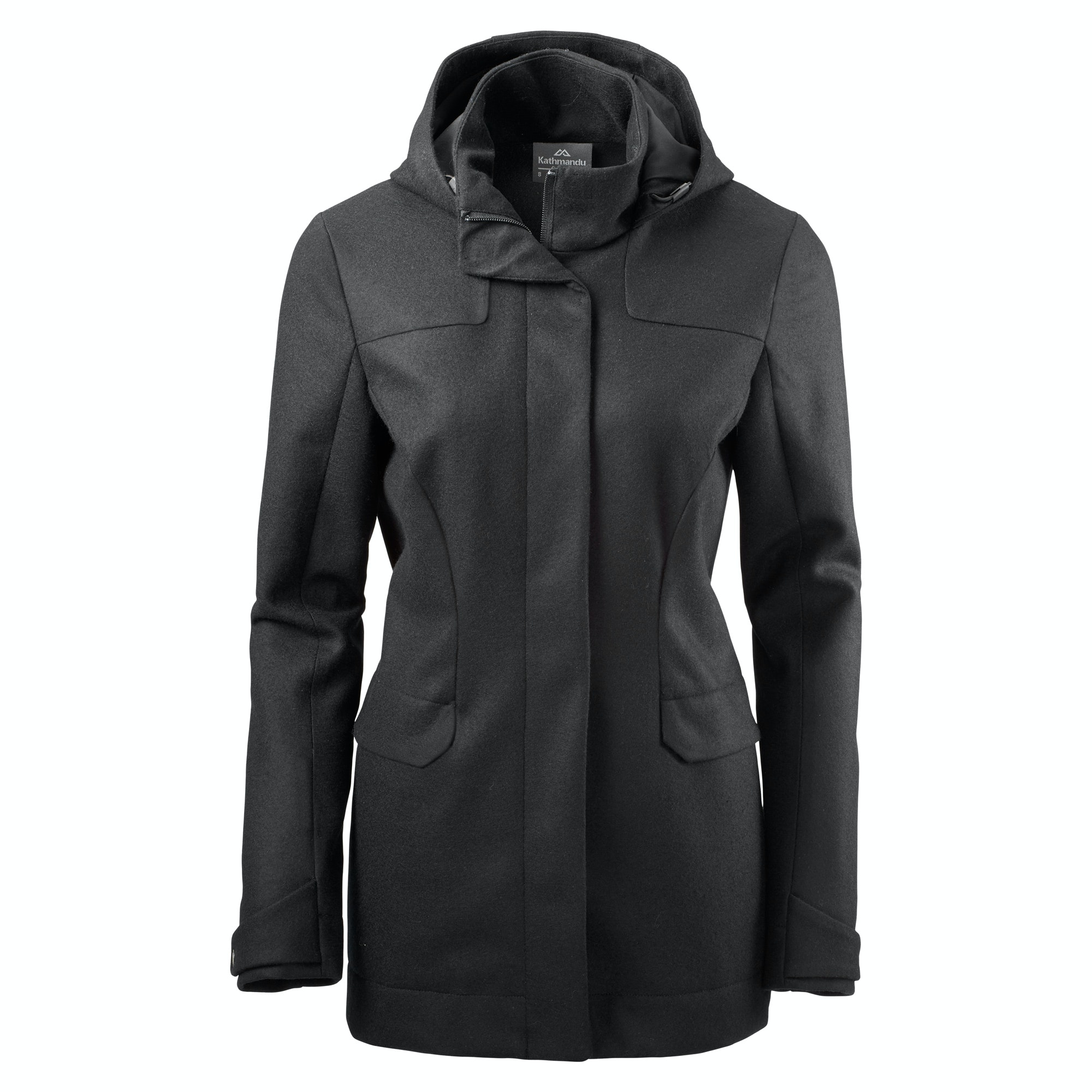 Plateau Women's Merino Coat v2 - Black
