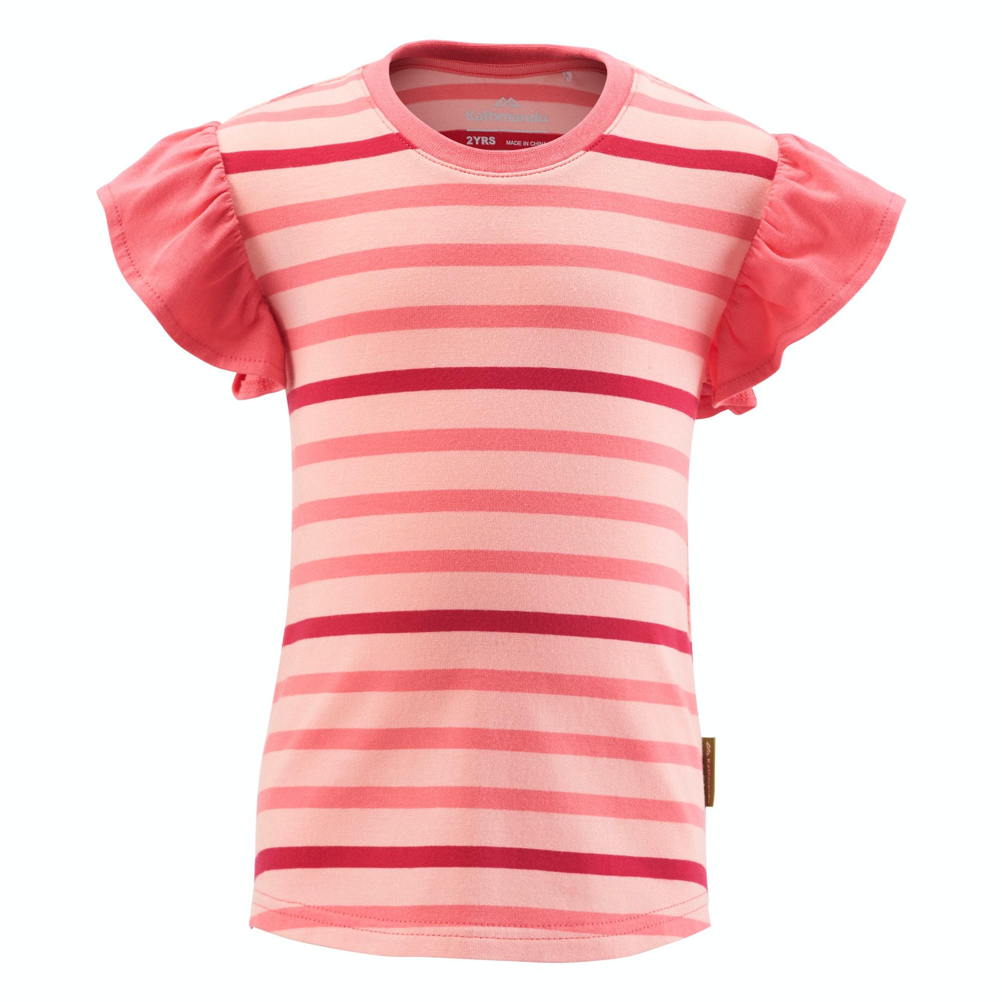 Kathmandu kids girls short sleeve cotton tee striped t for Best striped t shirt