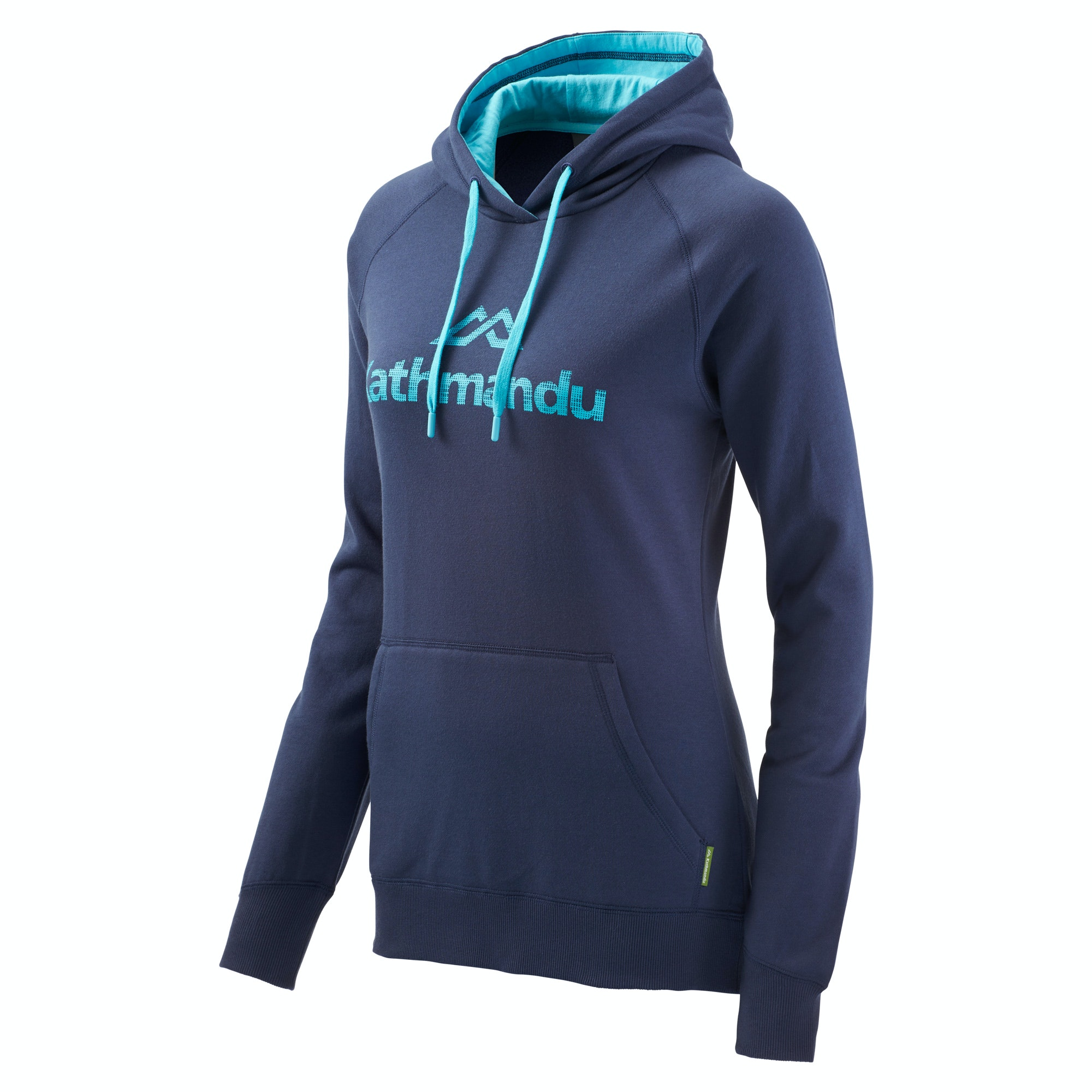 Kathmandu Women's Hooded Pullover v2 - Moonlight/Pacific Blue