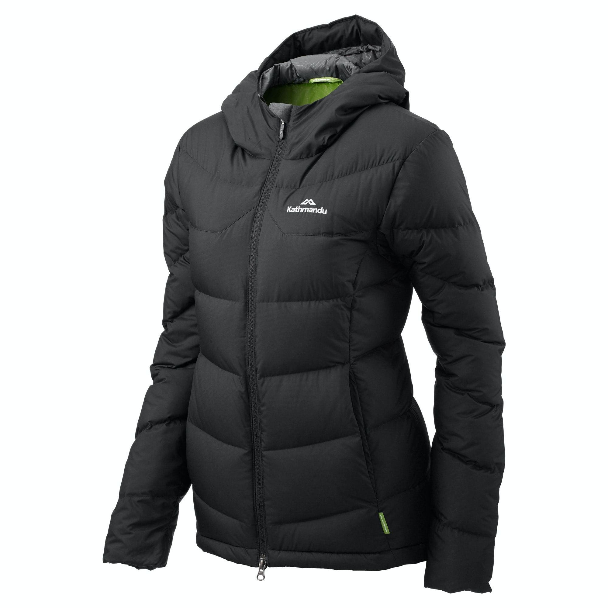 Womens hooded down jacket
