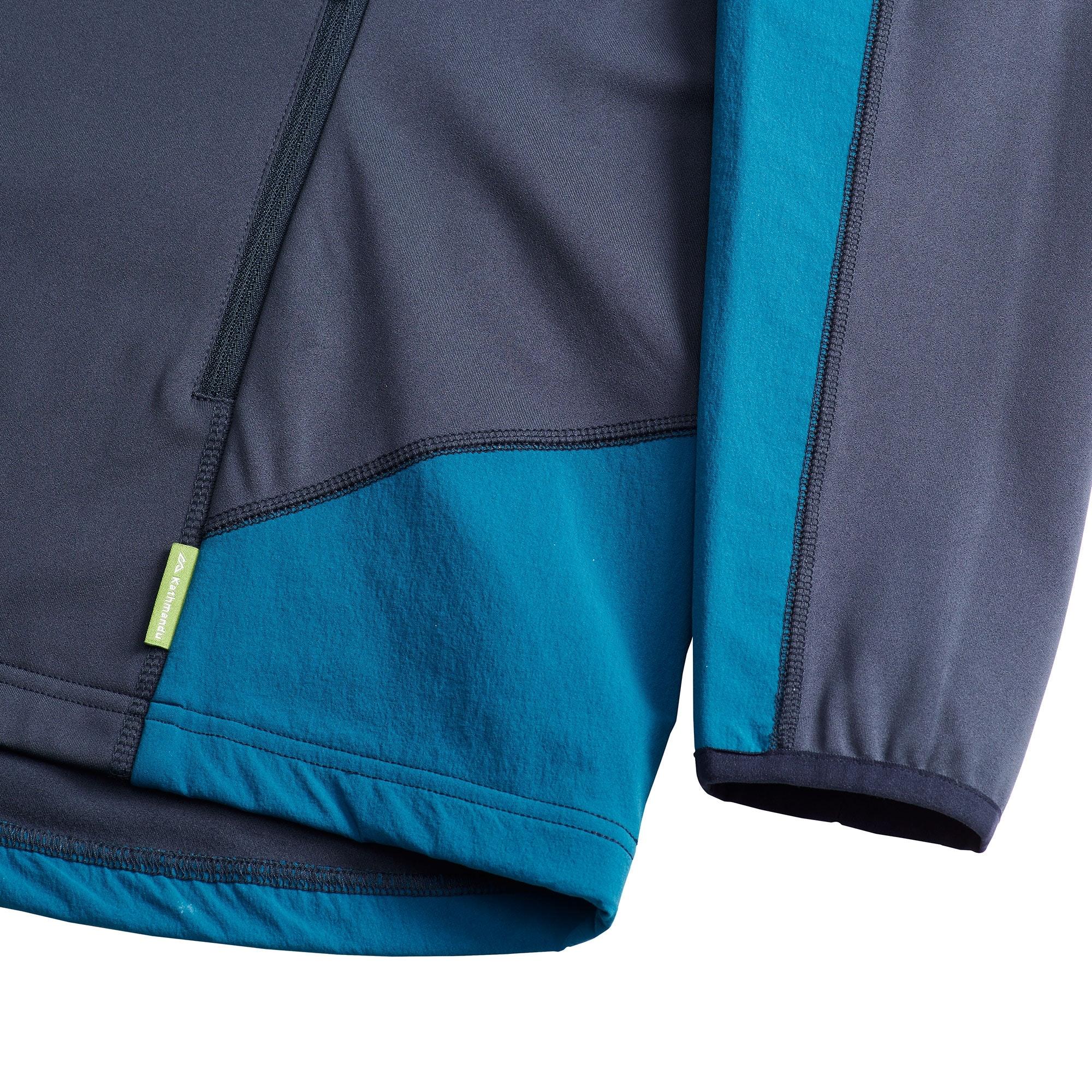 Kathmandu-Escarpar-Women-039-s-Mid-Layer-Hooded-Slim-Fit-Hiking-Fleece-Pullover