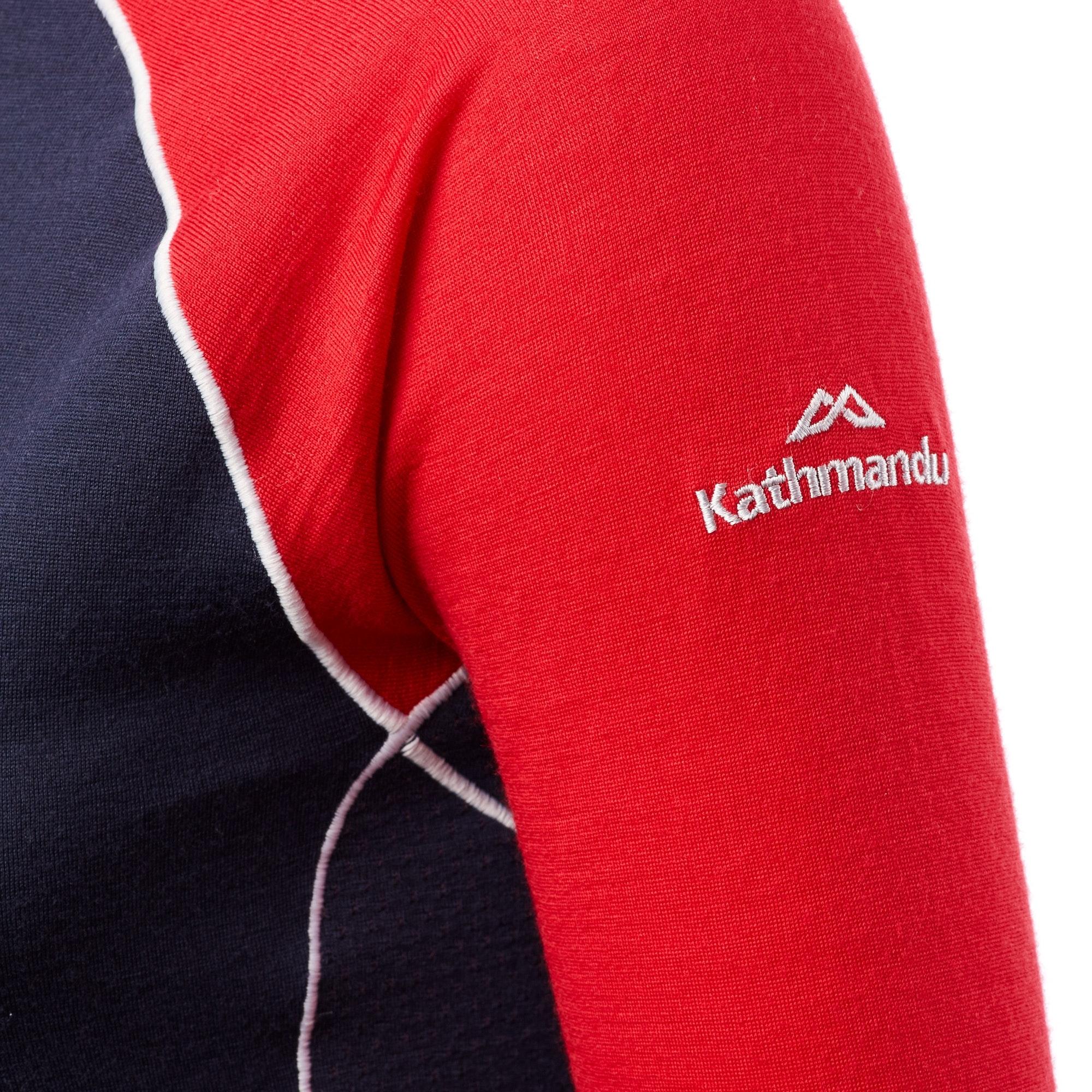 Kathmandu-Flinders-Women-039-s-Merino-Wool-Hiking-Walking-Thermal-1-4-Zip-Top