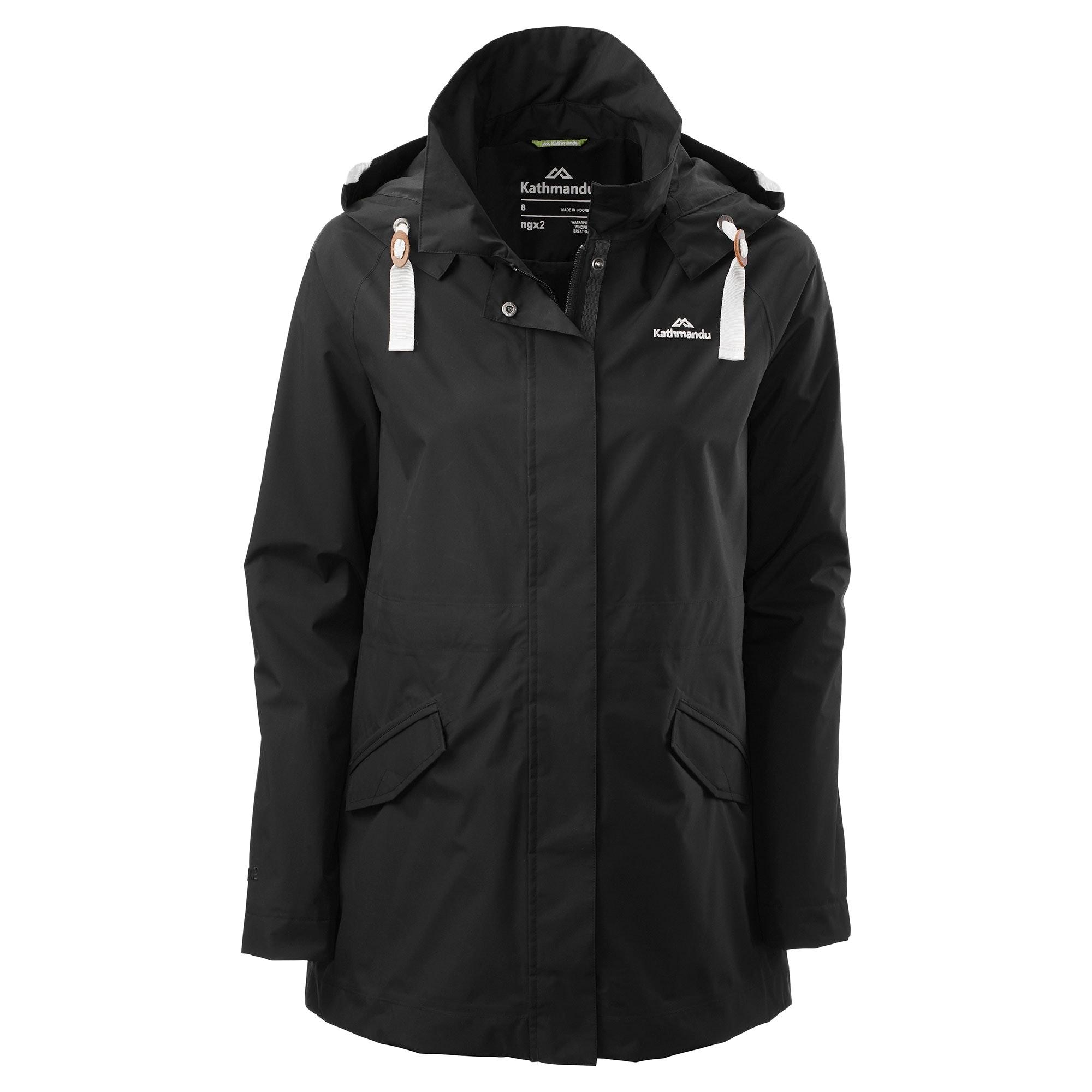 Kathmandu-Federate-Women-039-s-Windproof-Waterproof-Outdoor-Rain-Jacket-Coat