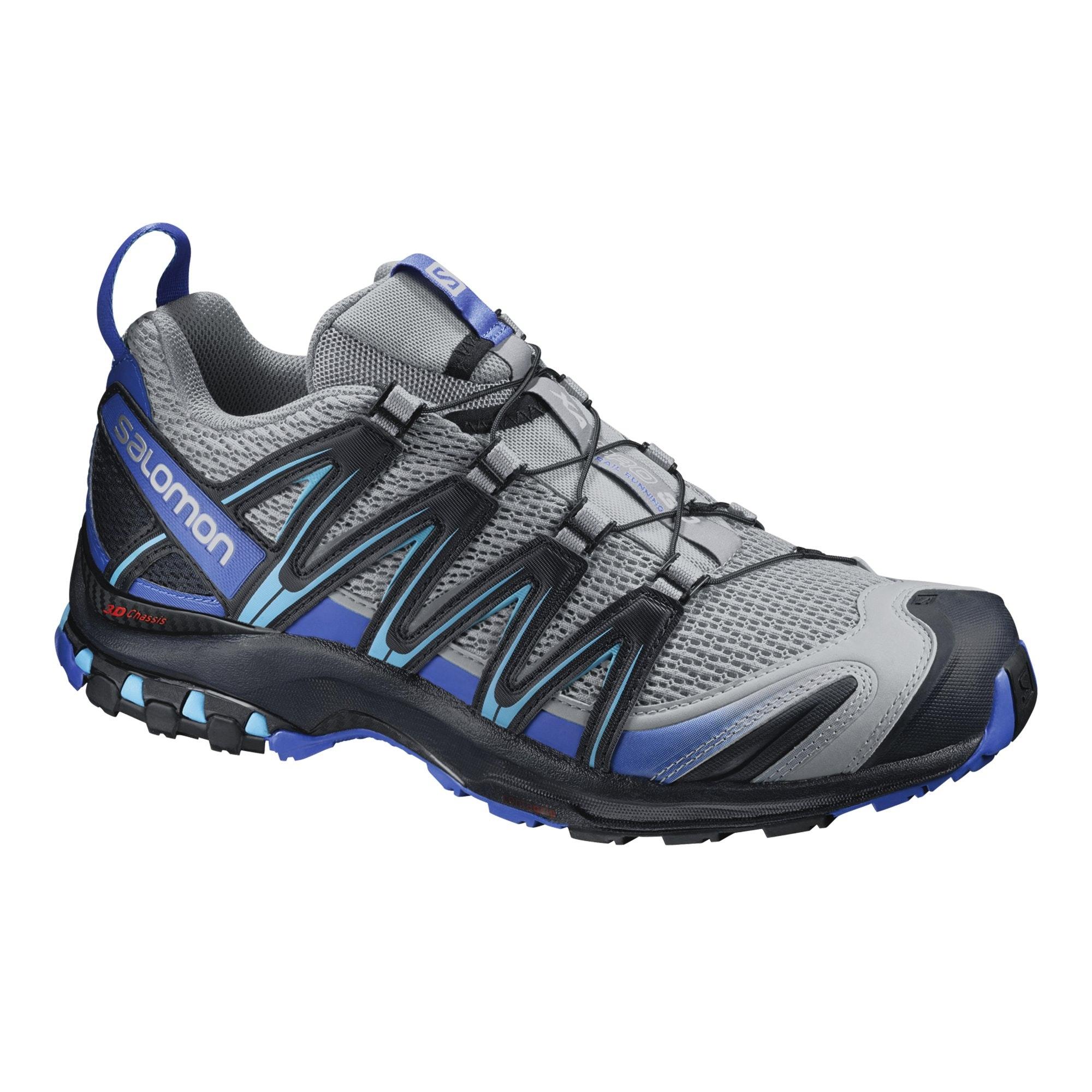 salomon xa pro 3d men 39 s trail running shoes methyl blue light grey black. Black Bedroom Furniture Sets. Home Design Ideas