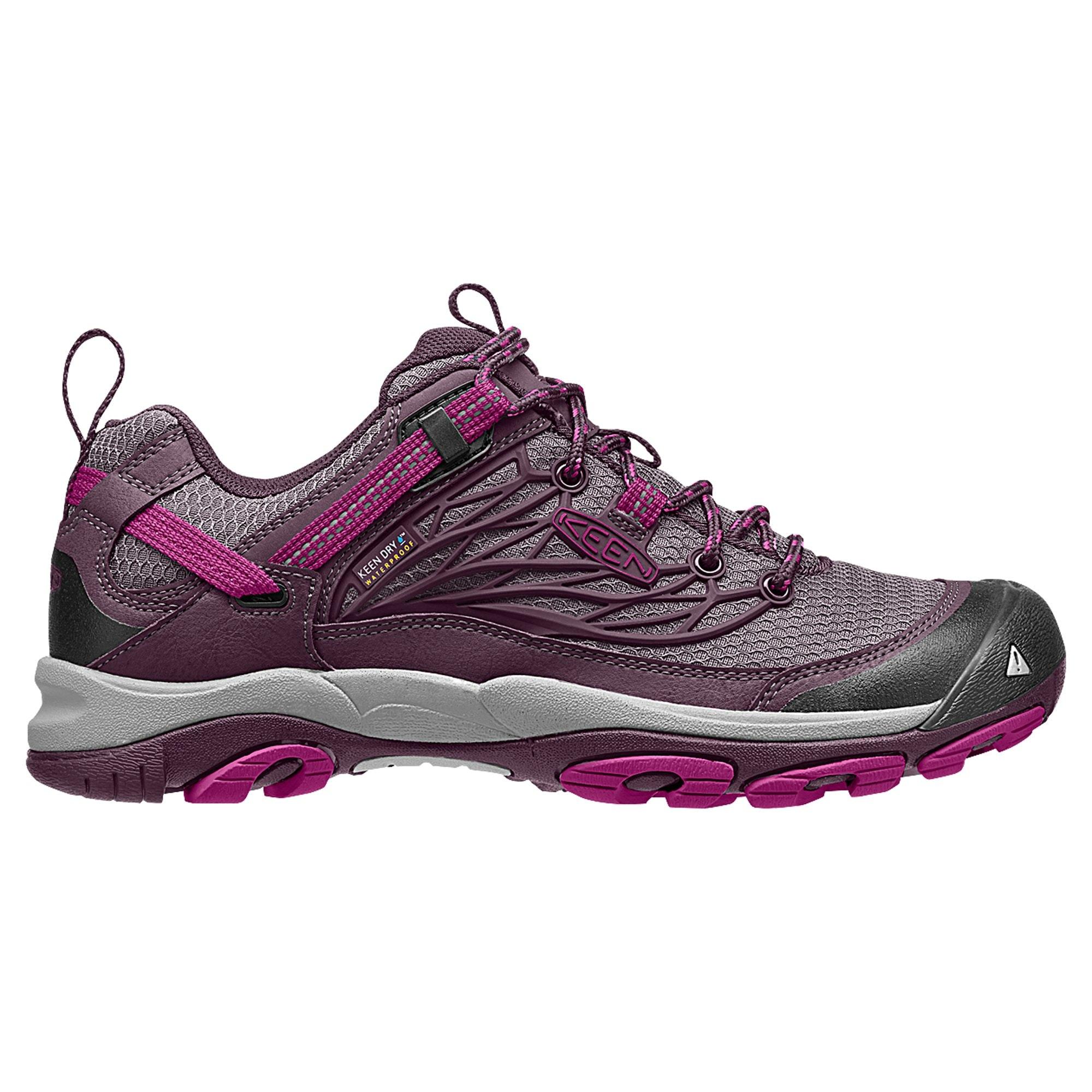 keen saltzman women s waterproof hiking shoes ink blue eggshell