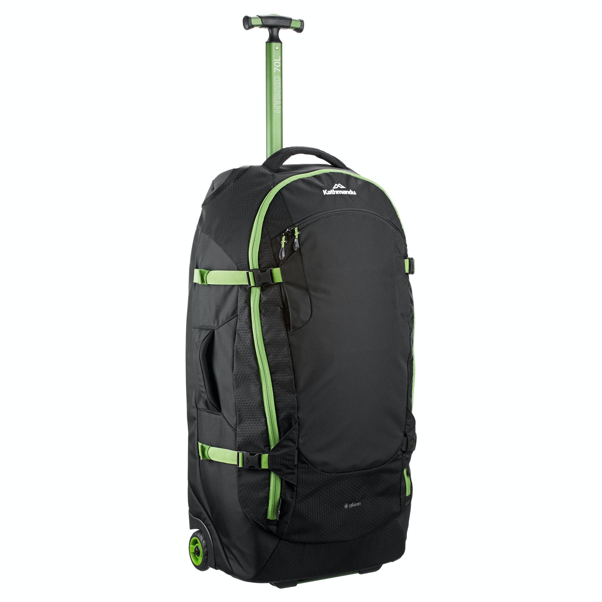 Kathmandu Hybrid 70L Backpack Harness Wheeled Travel Luggage ...