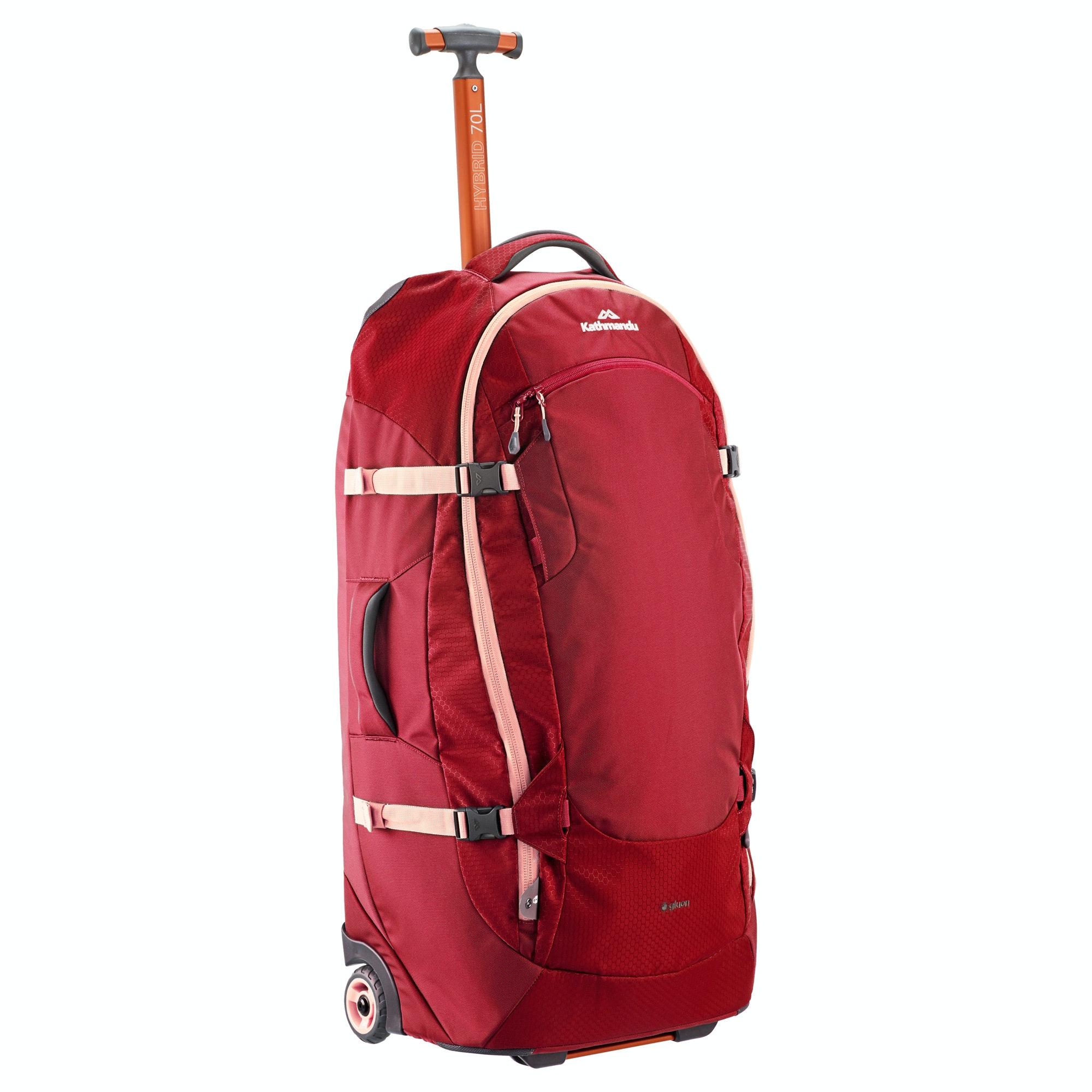 Kathmandu Hybrid 70l Backpack Harness Wheeled Travel
