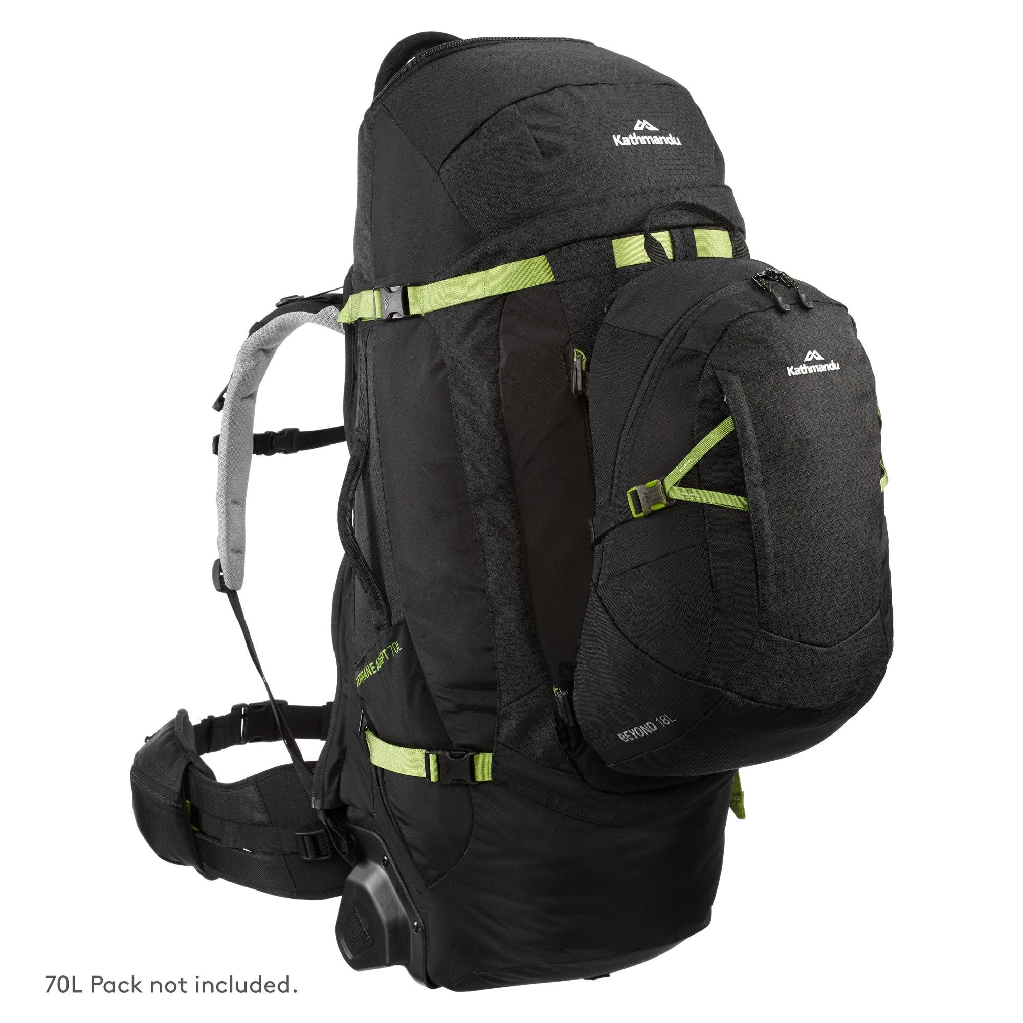NEW-Kathmandu-Gluon-Beyond-18L-Travel-Pack-Lockable-Zip-Internal-Security-Zip