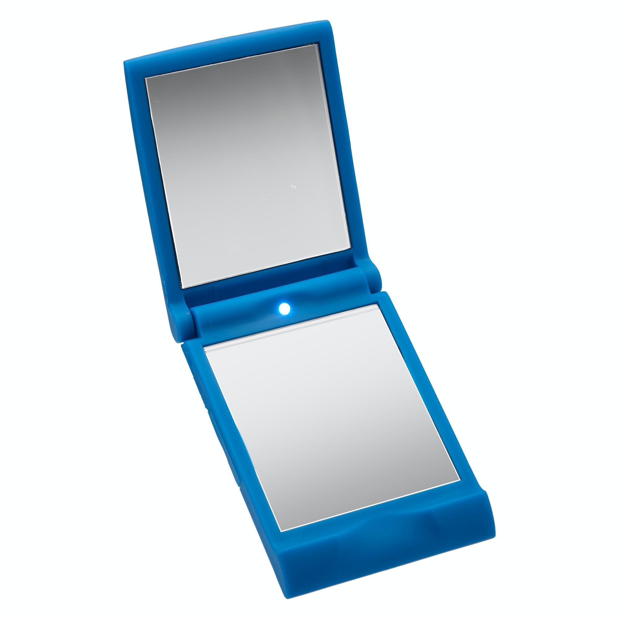 kathmandu travel mirror auto led light compact foldaway magnifying standing new ebay. Black Bedroom Furniture Sets. Home Design Ideas