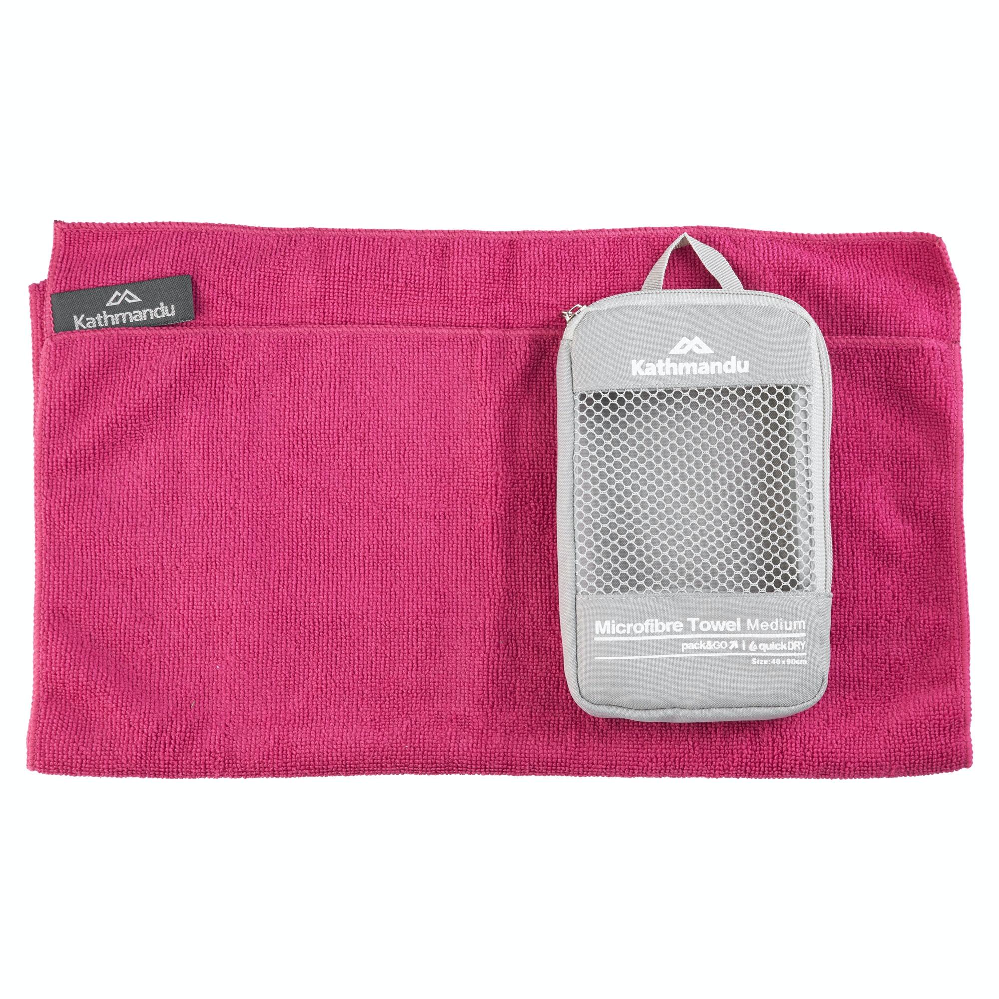 Microfiber Gym Towel With Zip: Kathmandu Microfibre Quick Dry Medium Gym Sport Travel