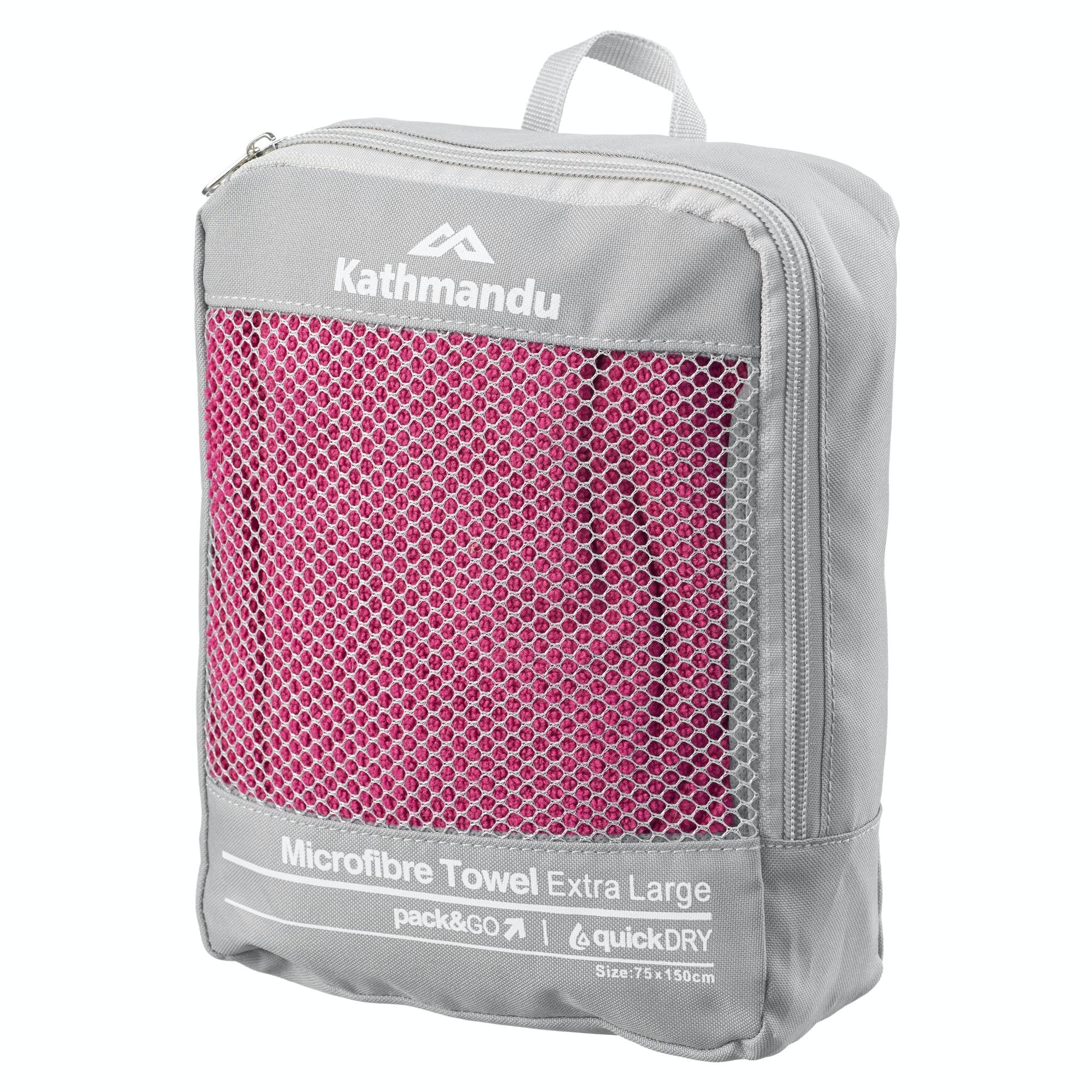 Microfiber Gym Towel With Zip: Kathmandu Microfibre Quick Dry XL Gym Sport Travel Camping