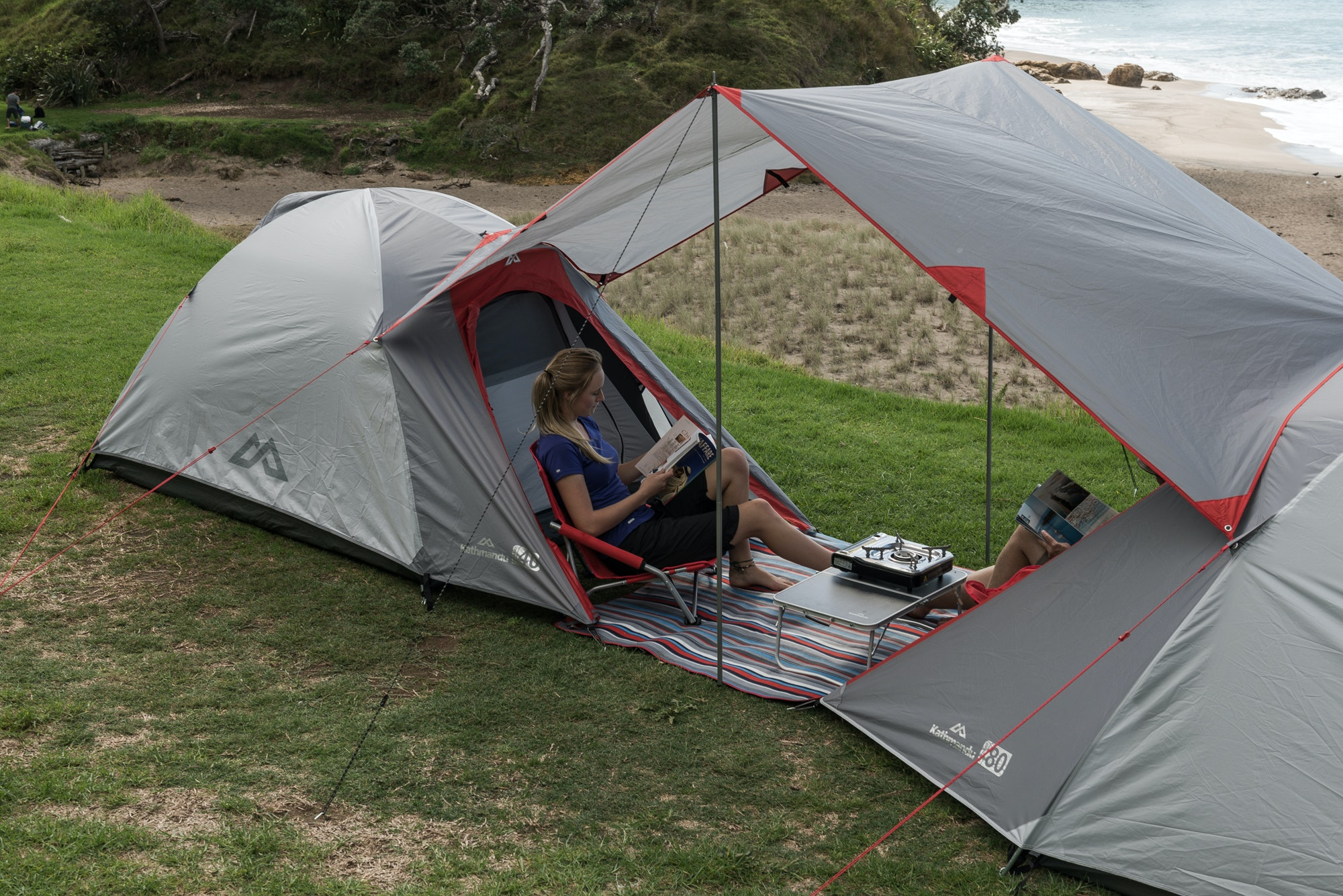 Two Person Tent : Retreat person tent warm grey sunset
