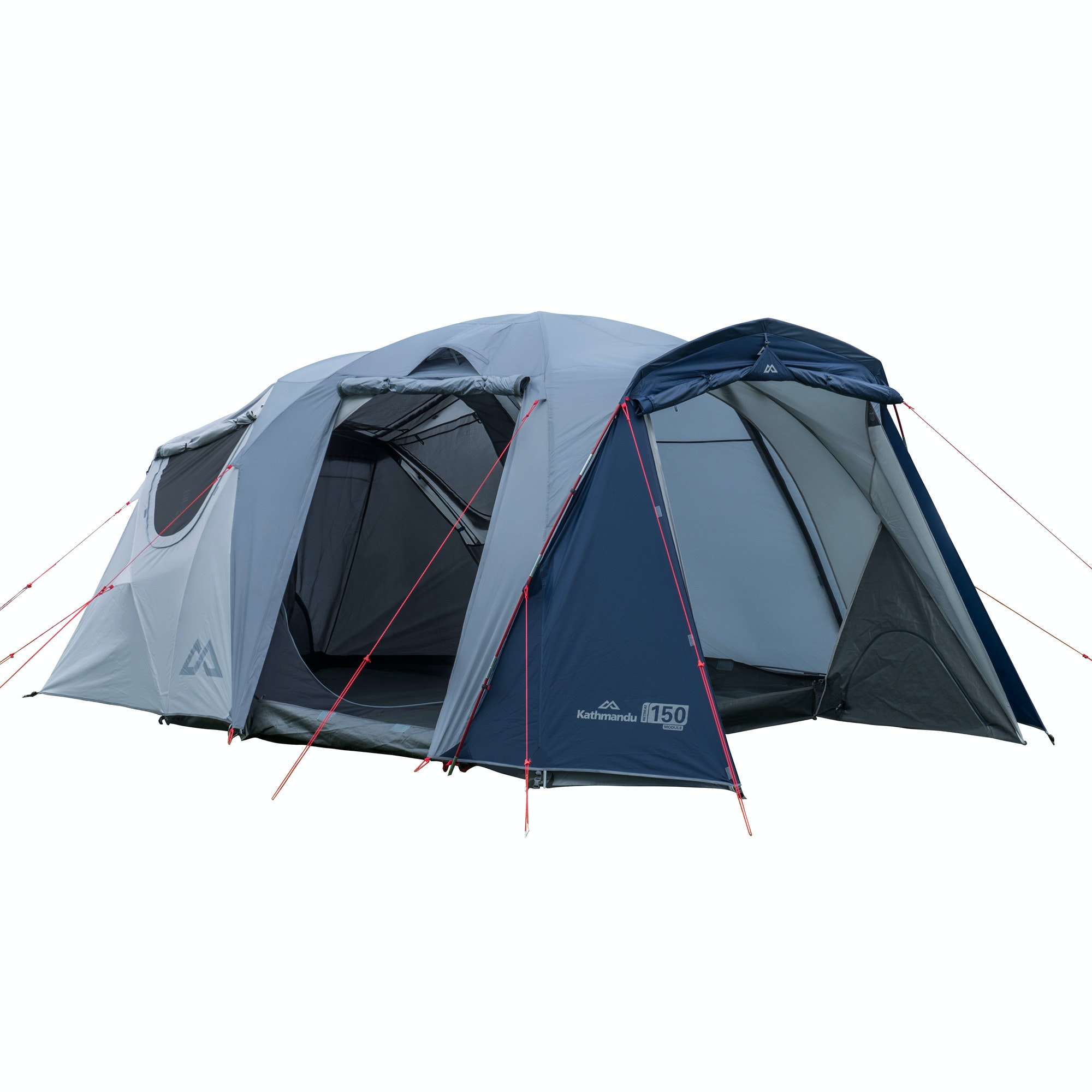 Kathmandu retreat 150 3 person module 2 room camping dome for Small 3 room tent