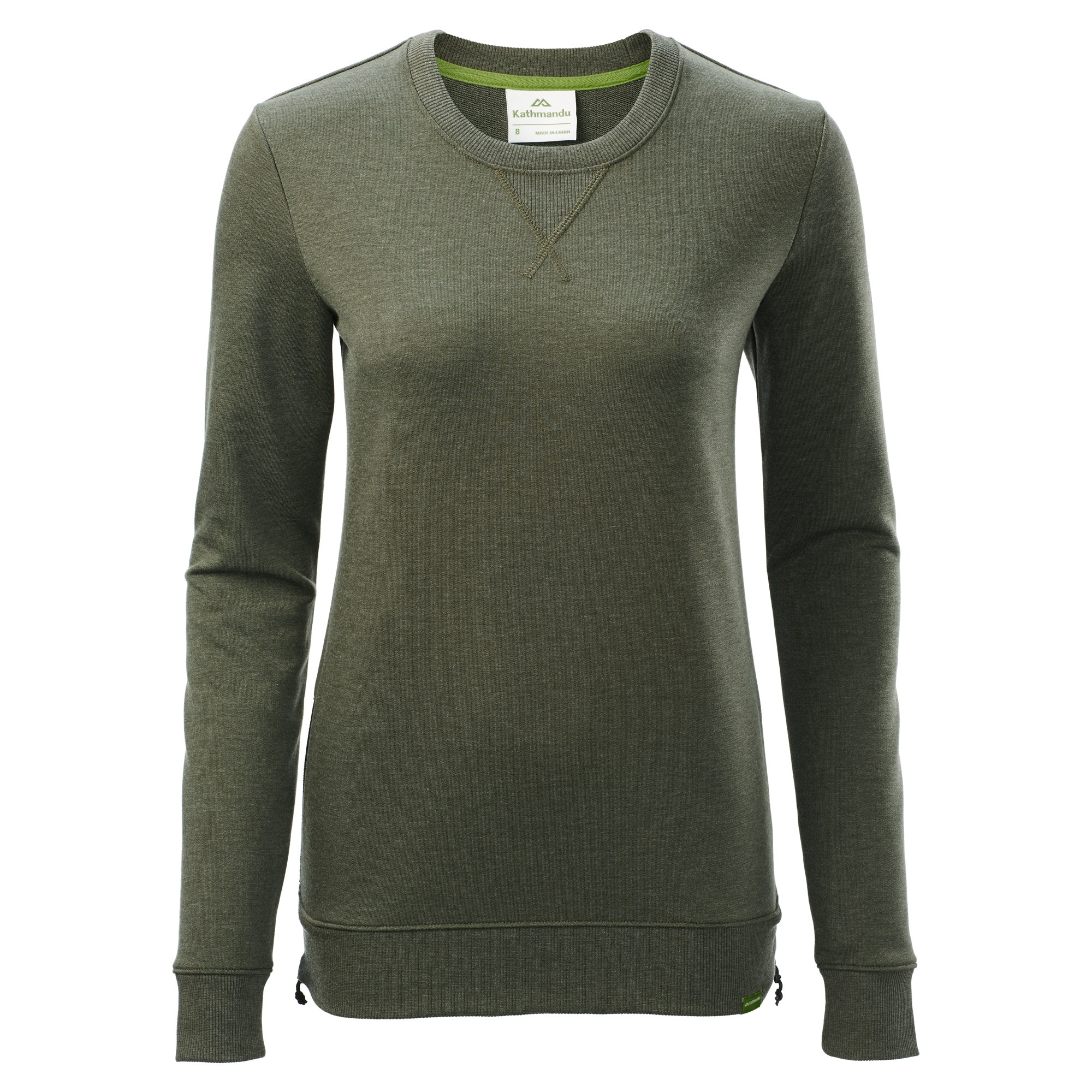 ea3654d10db Kathmandu Federate Women s Travel Crew Top Dark Olive Marle A0118 ...