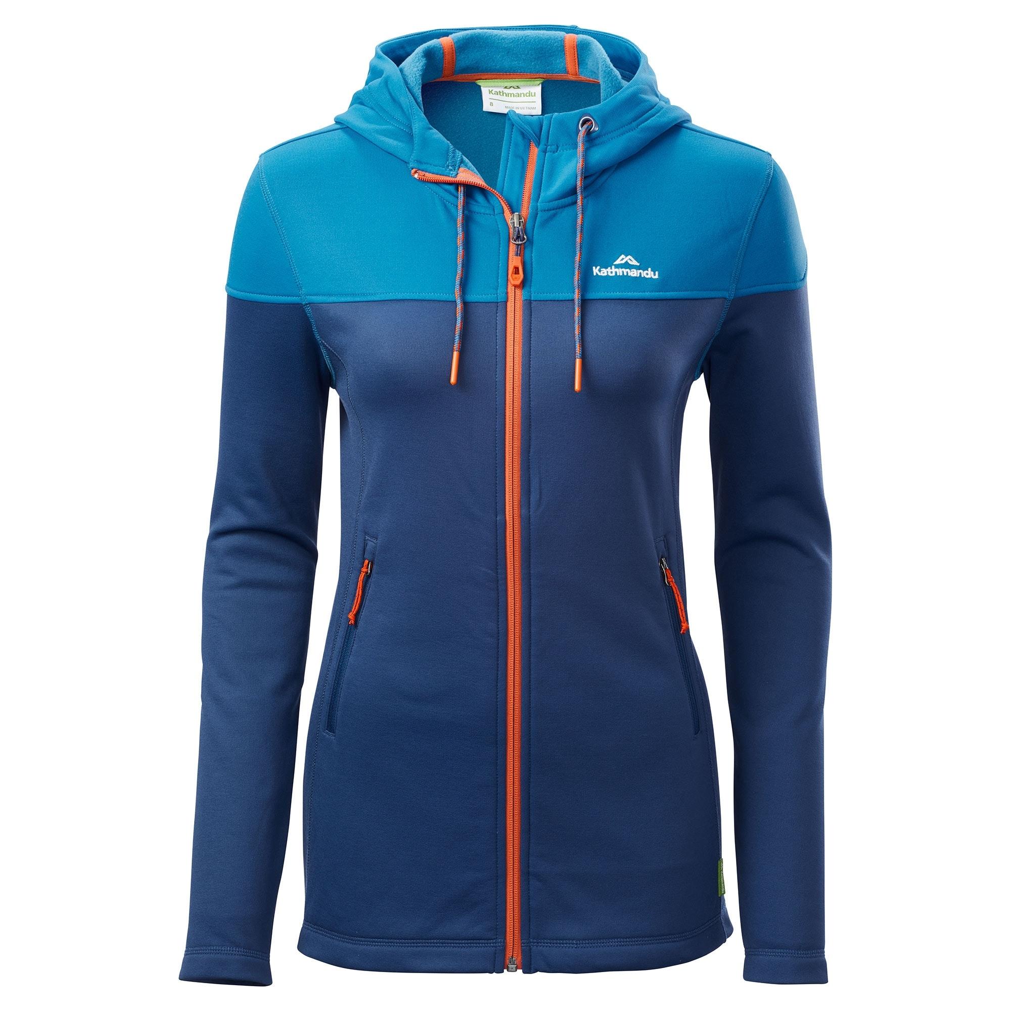 NEW-Kathmandu-Tarras-Womens-Full-Zip-Warm-Hooded-Outdoor-Walking-Jacket-Top